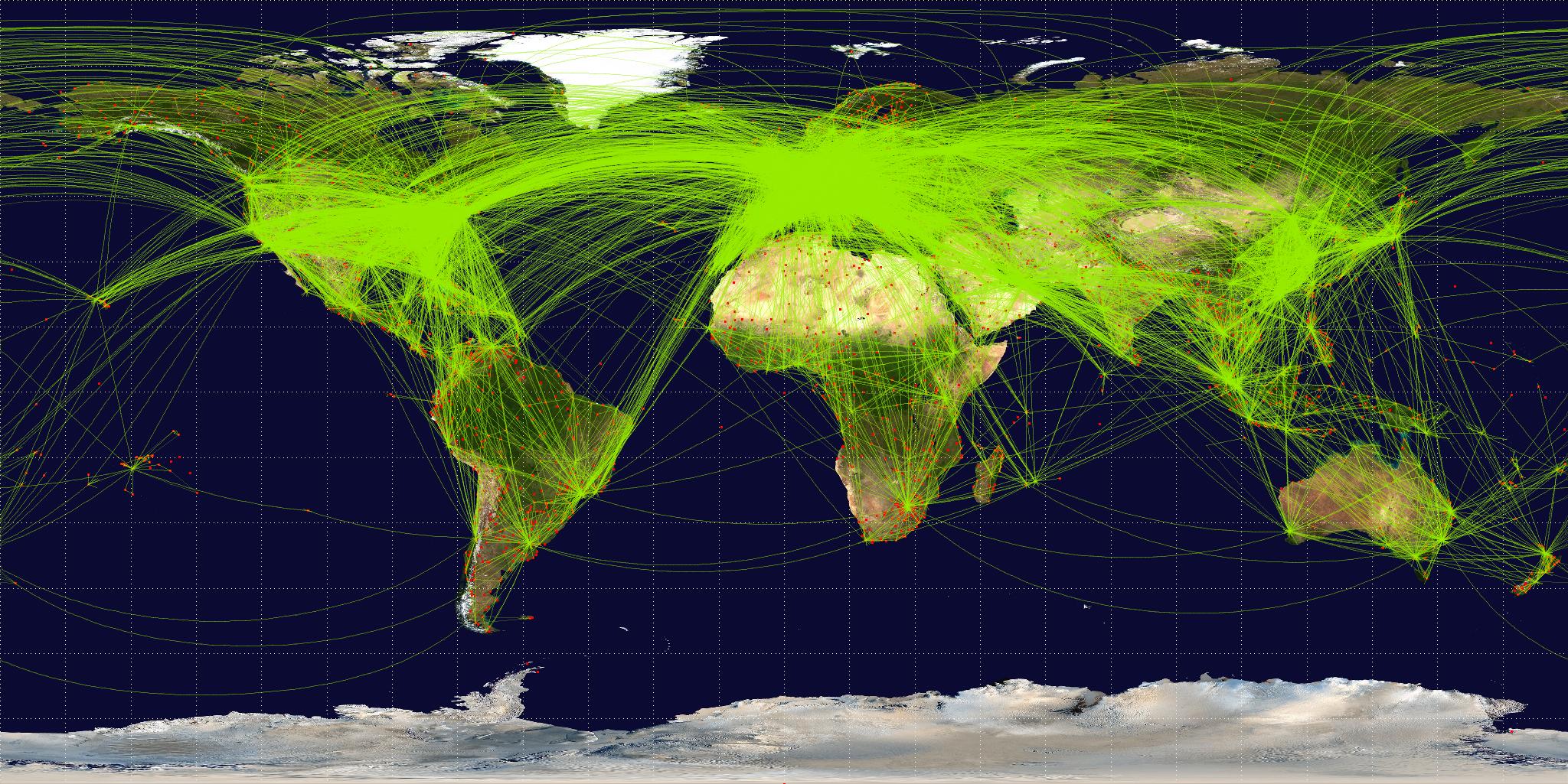 Global Air Transport Flight Paths