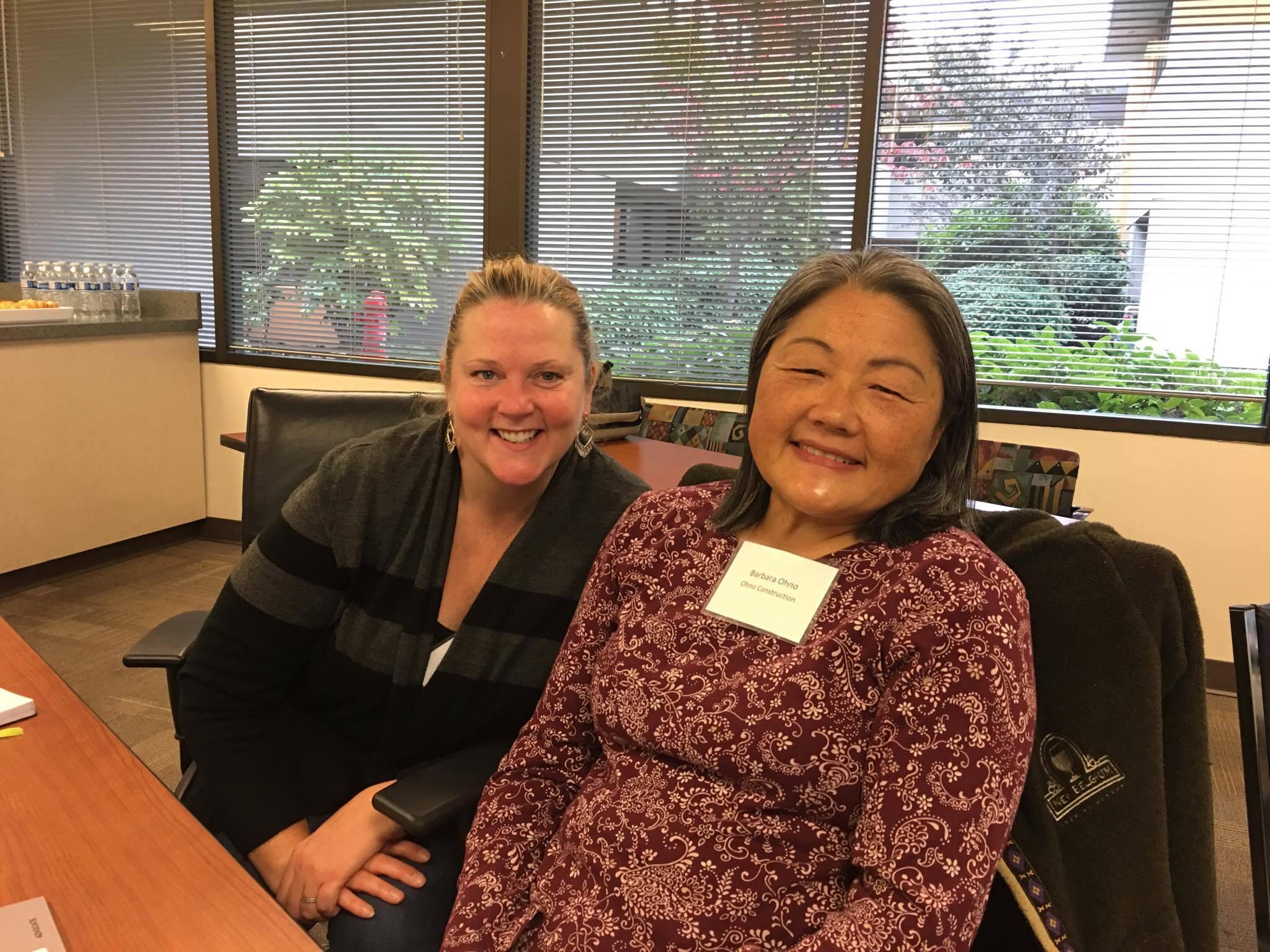 Mary Svendsen (TokuSaku Consulting) and Barbara Ohno (Ohno Construction)