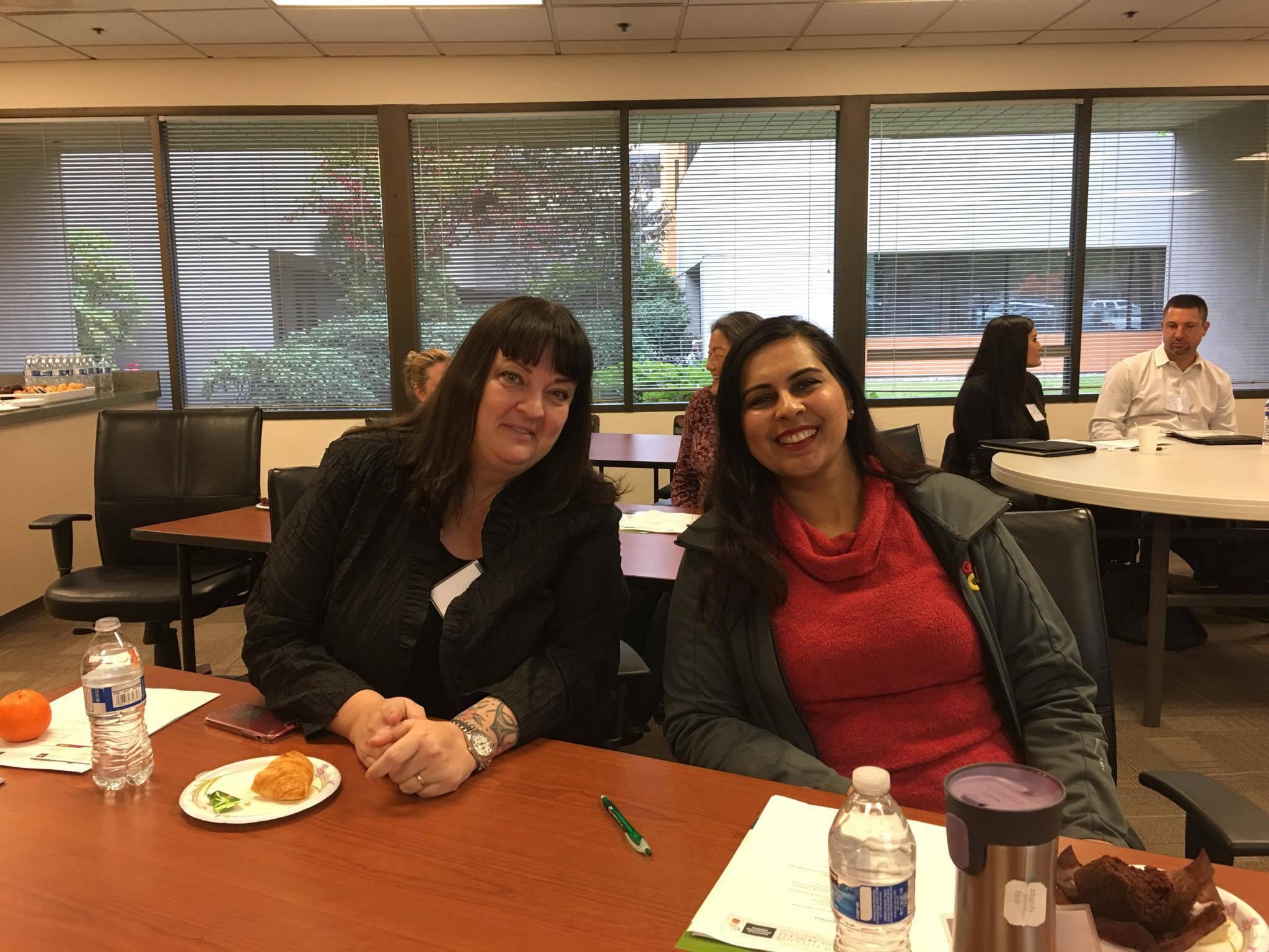 Ilona Lohrey (GSBA) and Rani Bal (Signs Now Washington)