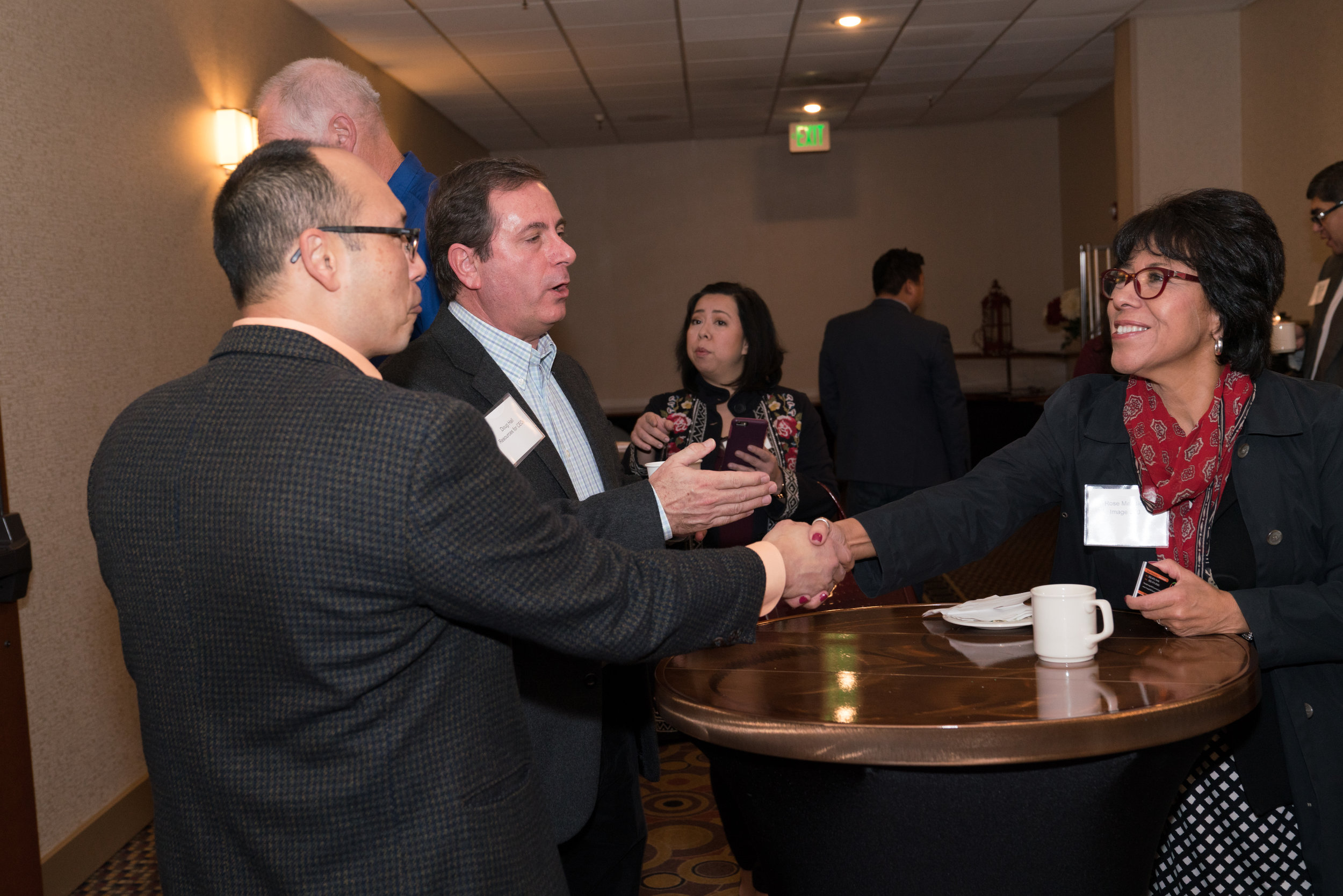 Paul Perez, Accelerated Breakthrough Training; Doug Hall, Resources for CEOs; and Rose Mednick, Image 360