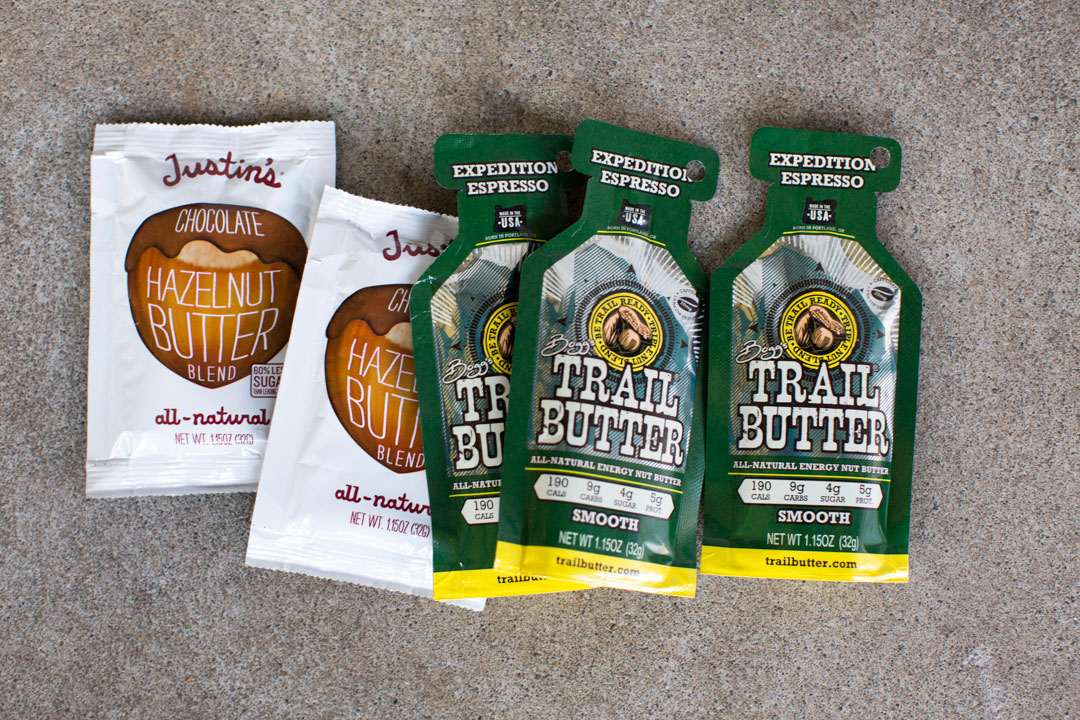 Justin's & Trail Butter packets