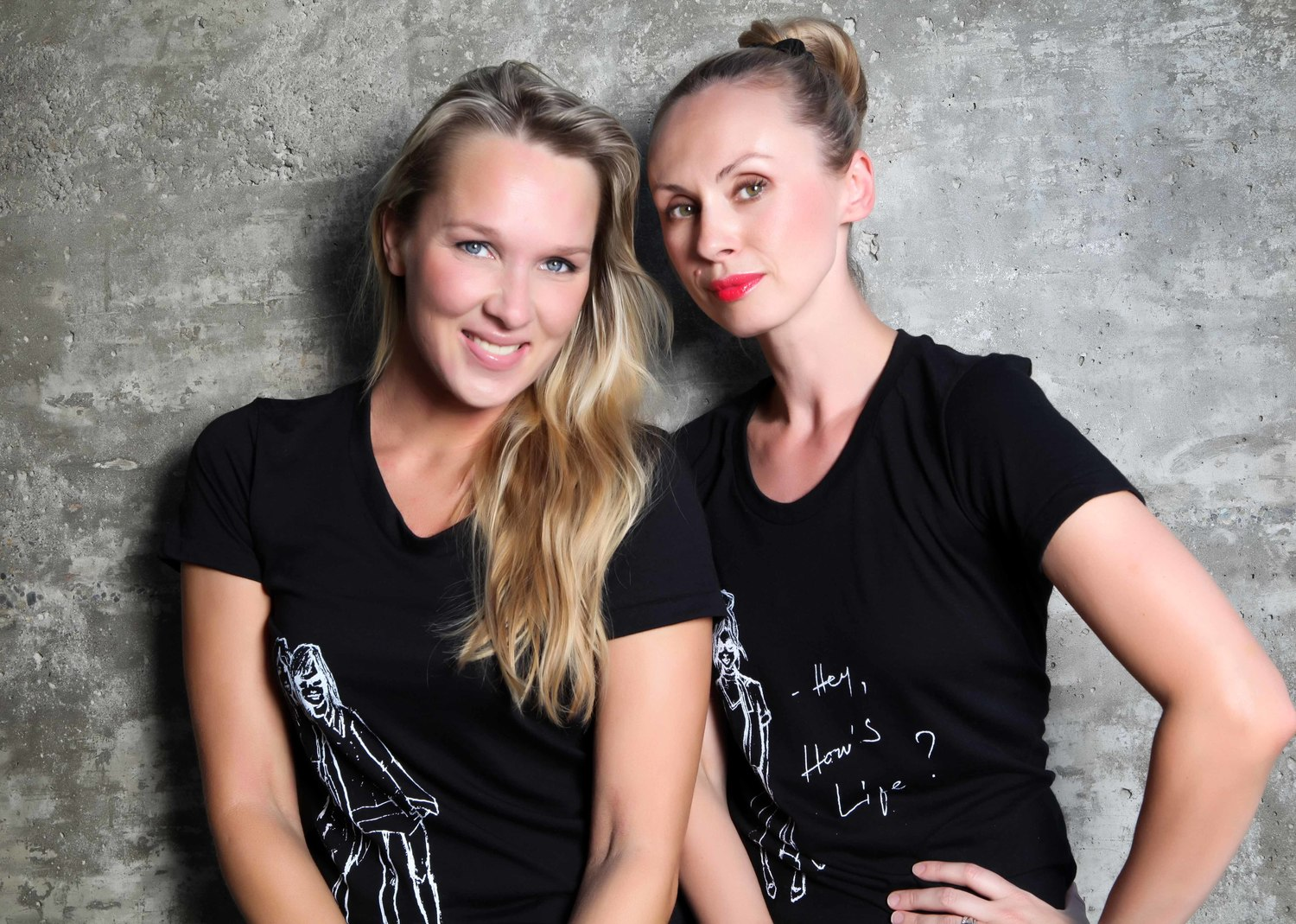Inese and Eva.T-shirts designed by Eva available in our    SHOP    with all the proceeds going to our cause