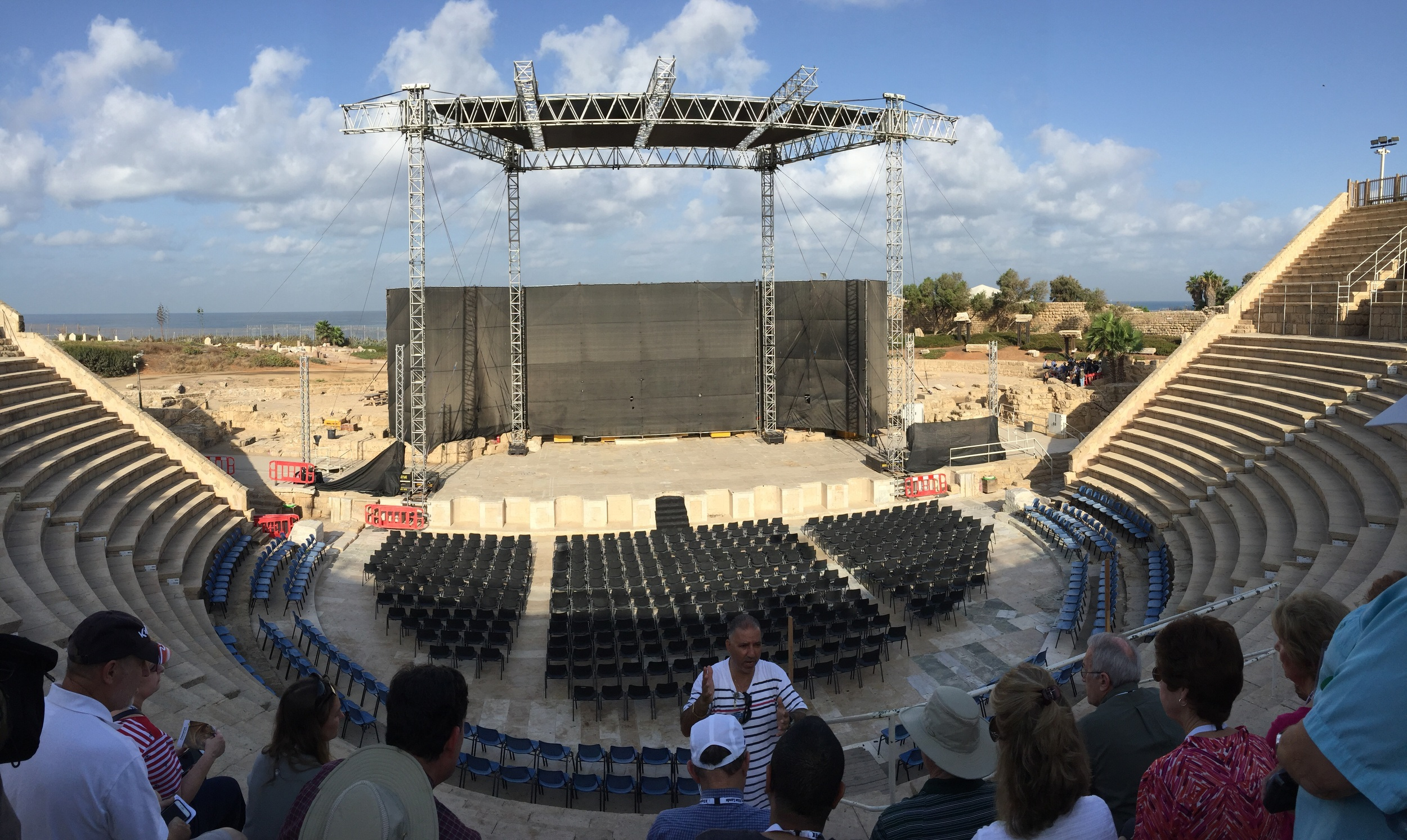 Gus, our tour guide, explained the history and science of the amphiteater at Caesarea.