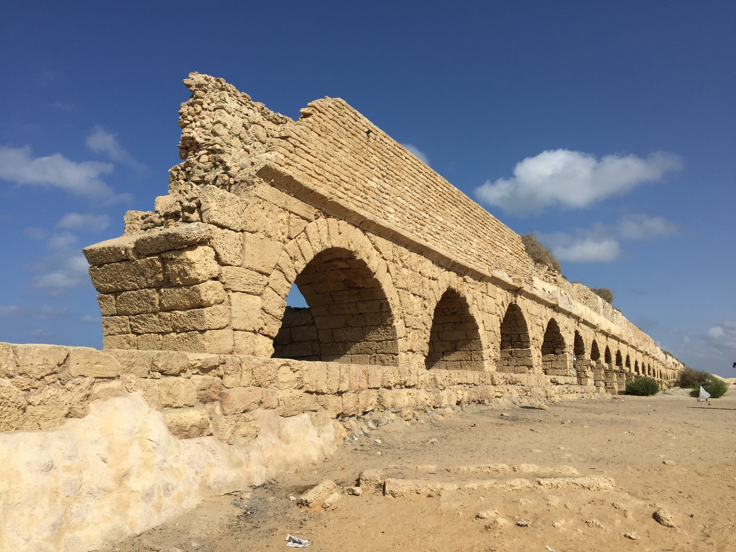 A portion of the aqueduct built by Herod the Great.
