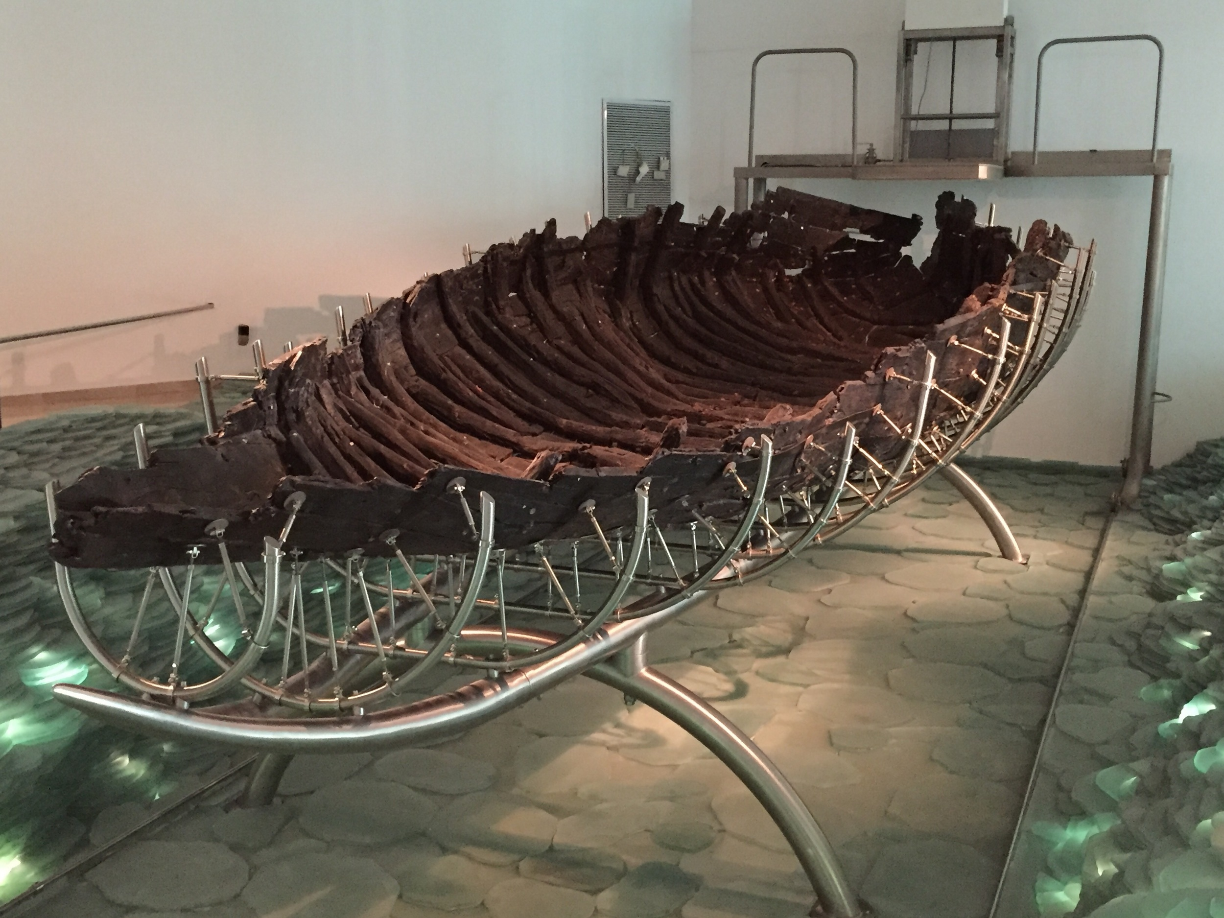A 2,000 year old boat from the time of Jesus.