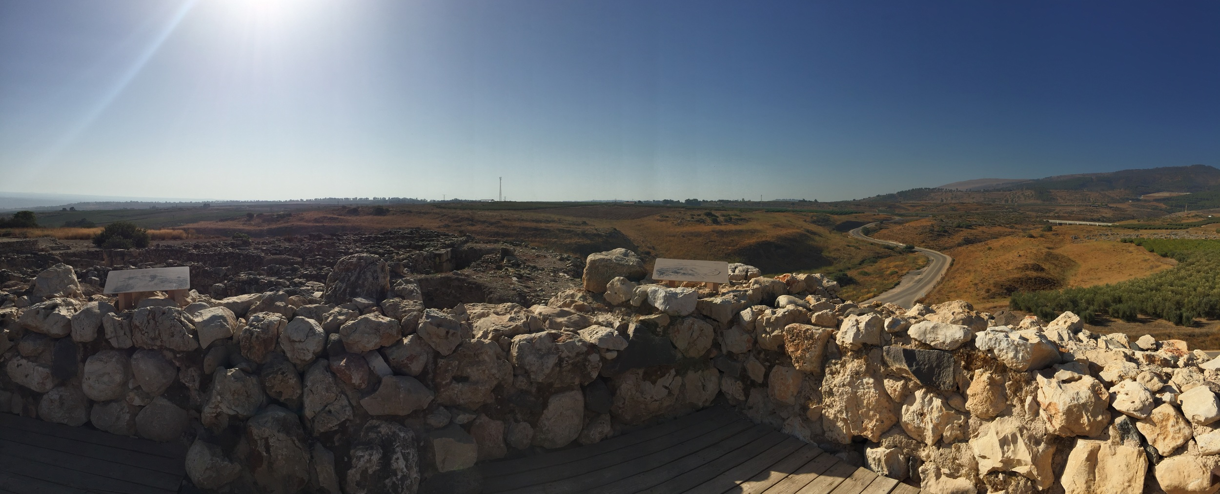 This panorama was taken from the top of the watch tower at Tel Hazor.