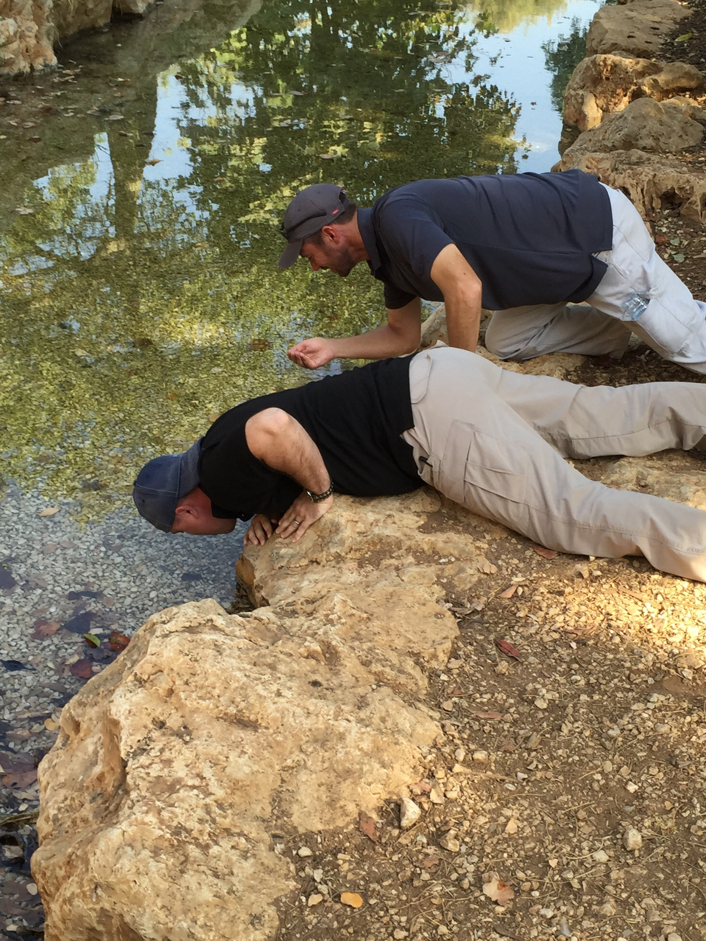 Norm and I took a drink from the stream Harod, like Gideon's men did.