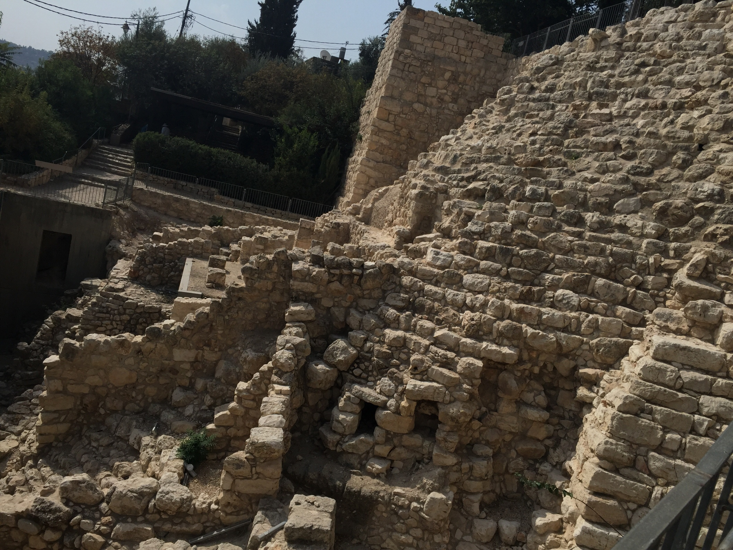 A section of David's Jerusalem!