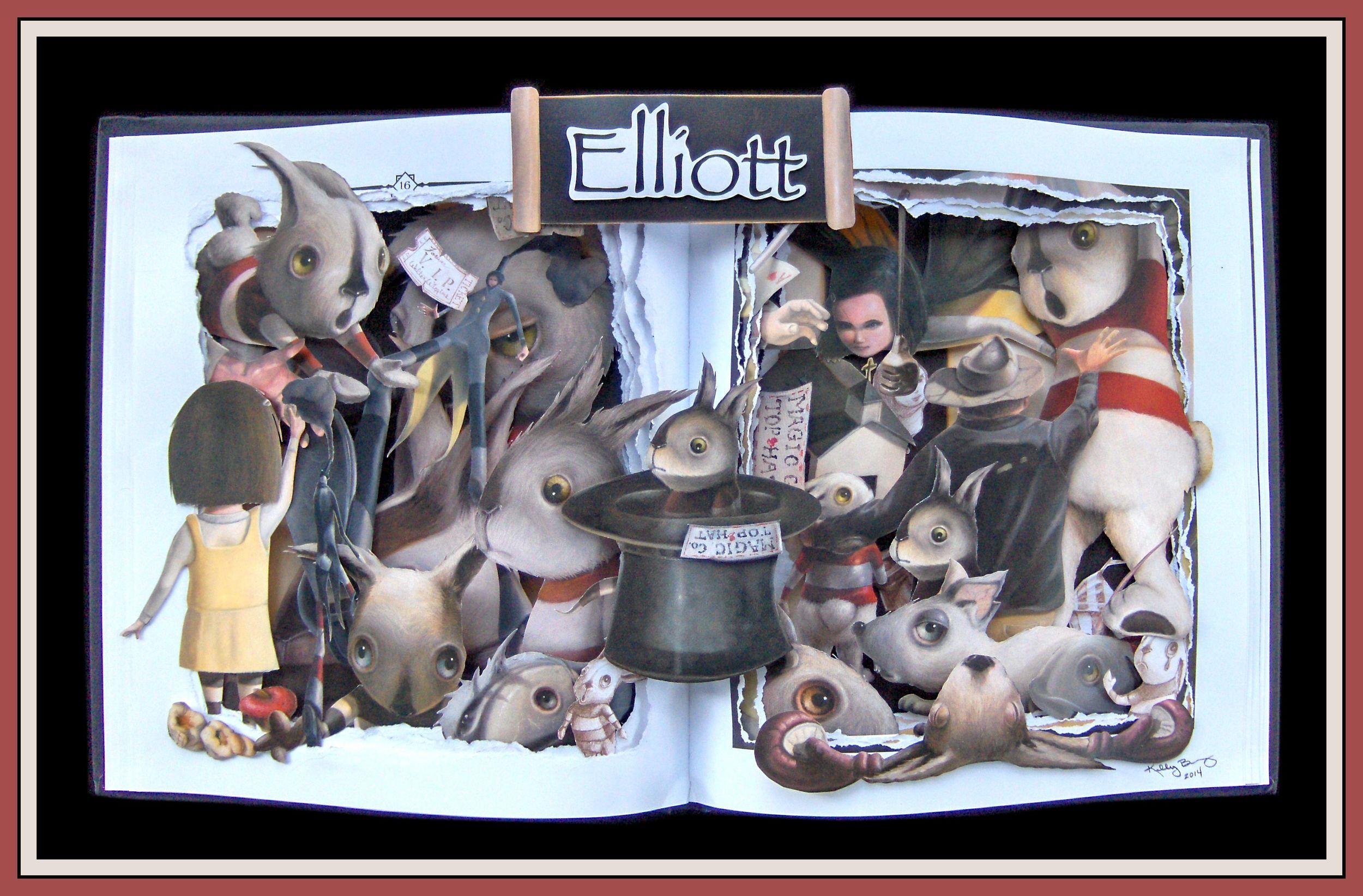 Elliot - 16x20x3 Book Sculpture