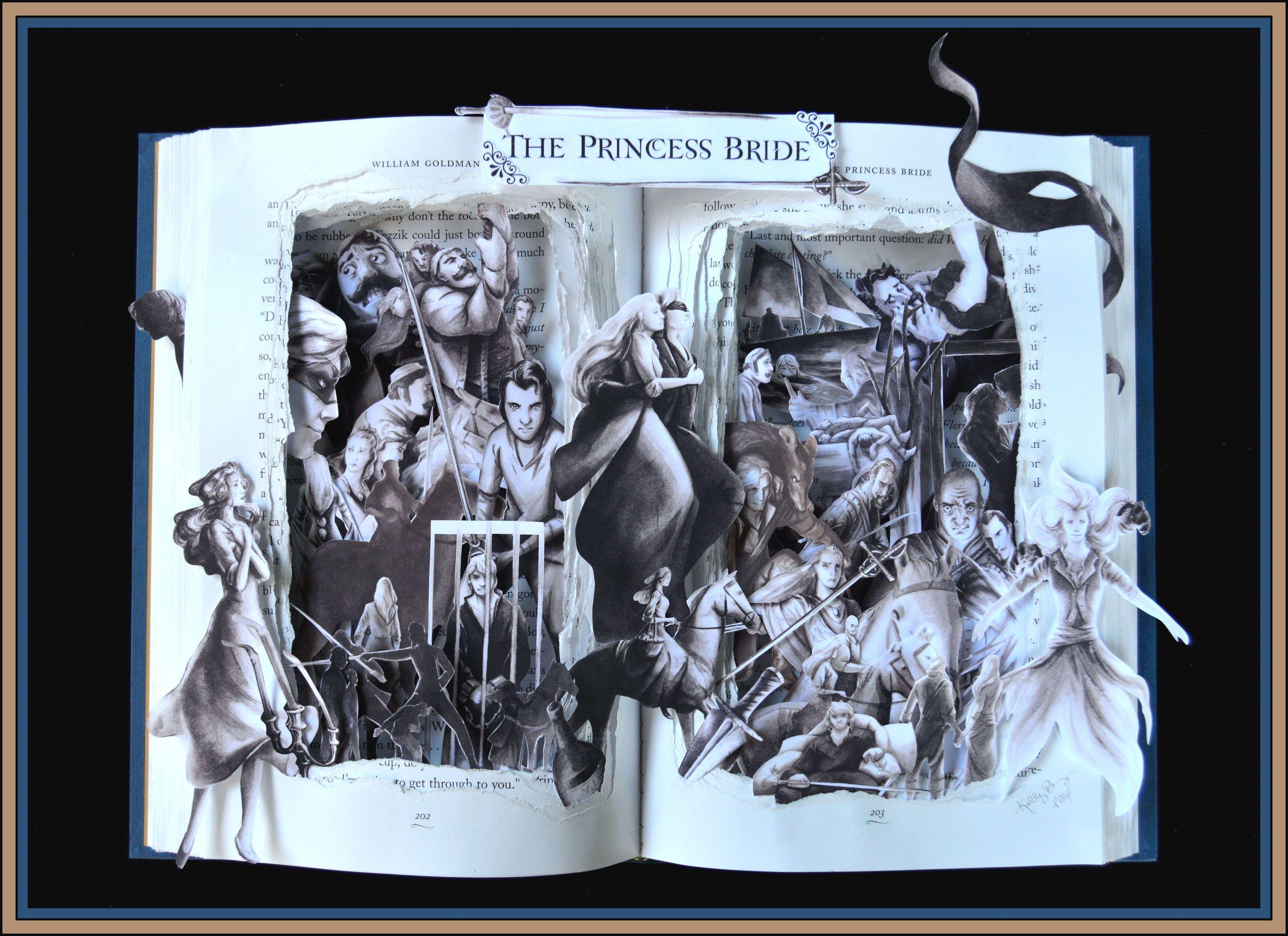Princess Bride 12x16x2 Book Sculpture