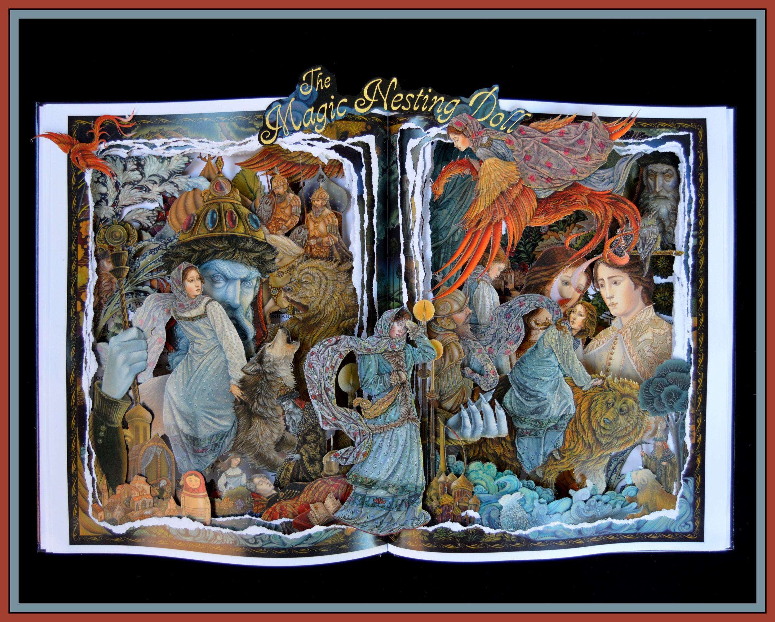 The Magic Nesting Doll - 16x20x3 Book Sculpture