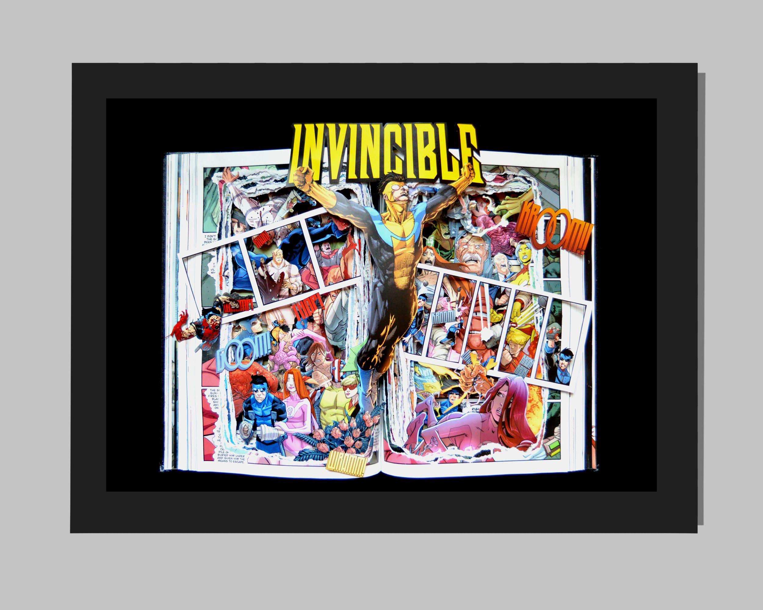 Invincible Graphic Novel Book Sculpture - 16x20x3