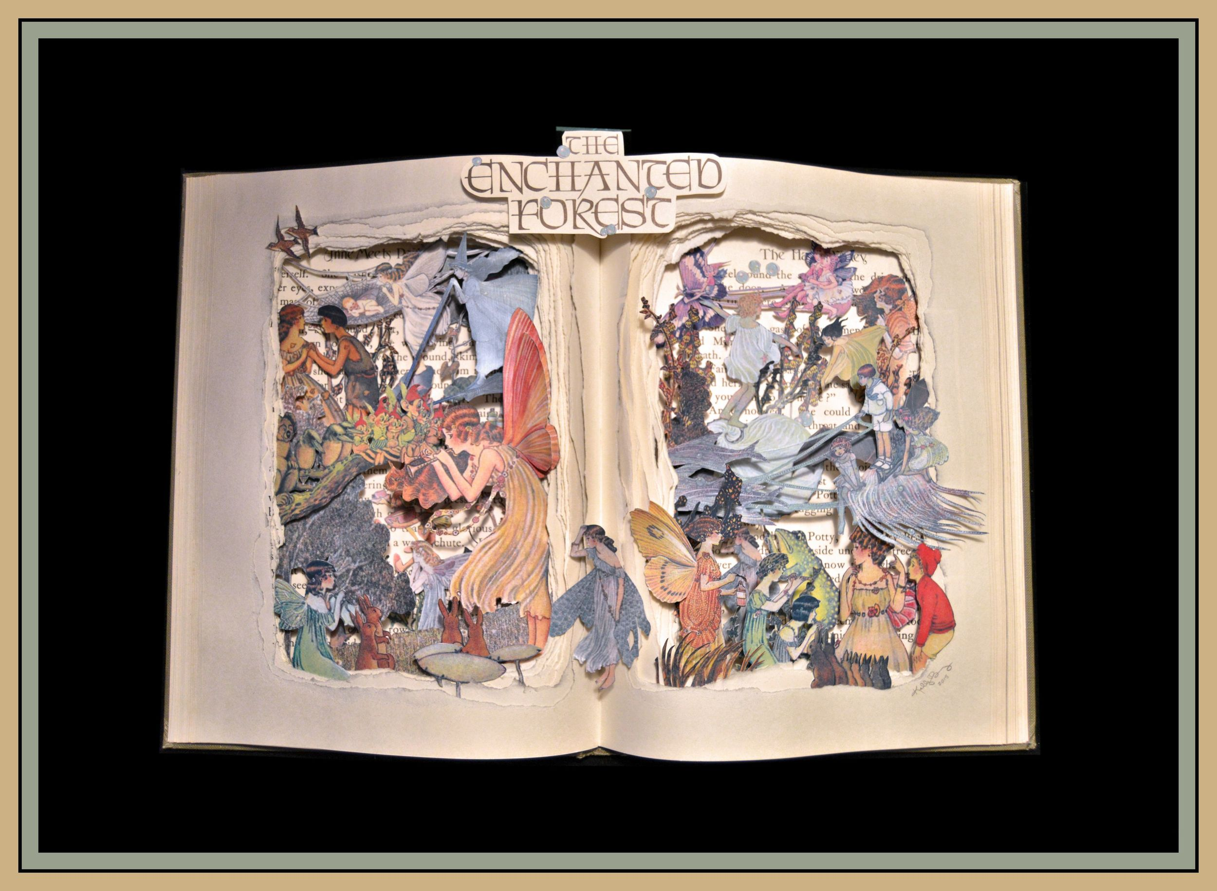 Enchanted Forest 12x16x3 Book Sculpture