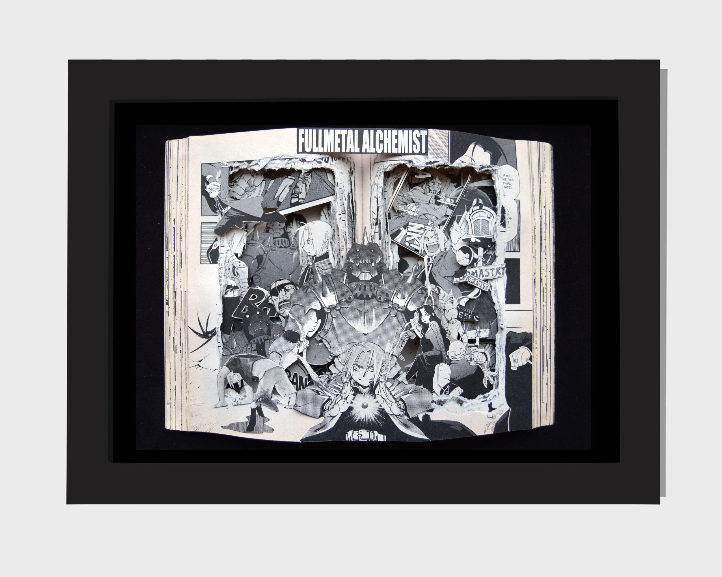 Fullmetal Alchemist - Manga Book Sculpture 9x11x3