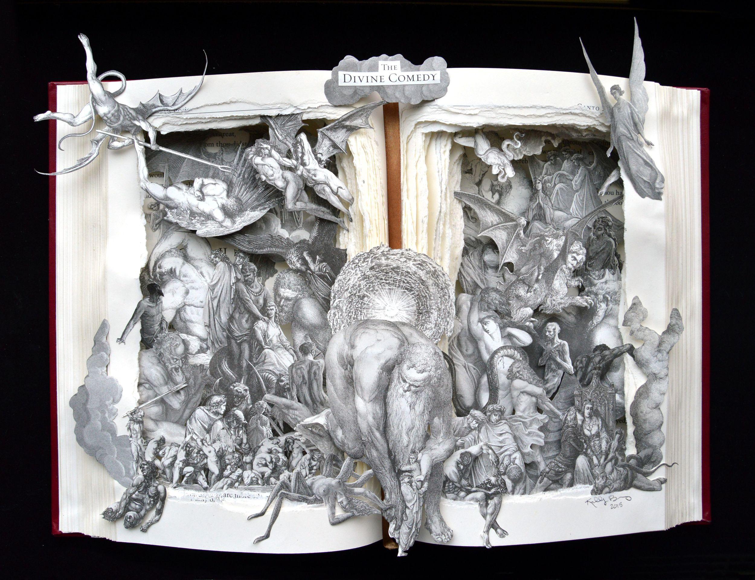 Divine Comedy Book Sculpture - 12x16x3