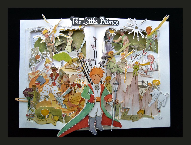 The Little Prince - 16x20x3 Book sculpture