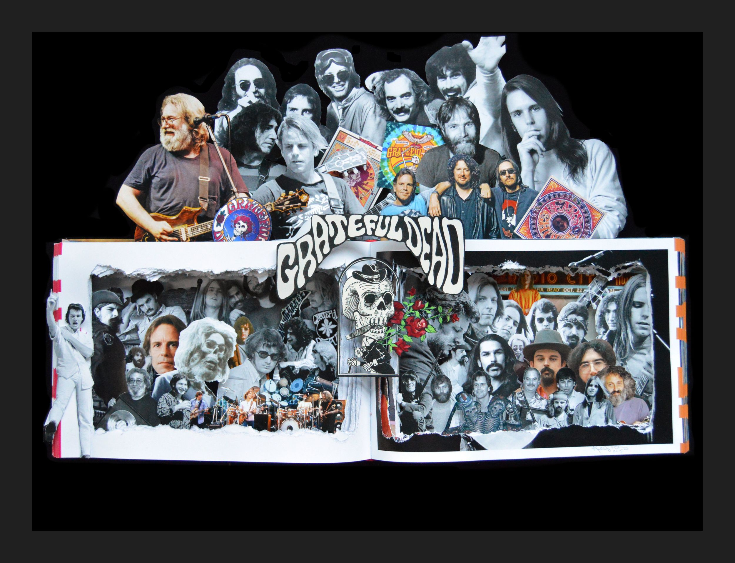 Grateful Dead - 16x20x3 Custom Order Book Sculpture