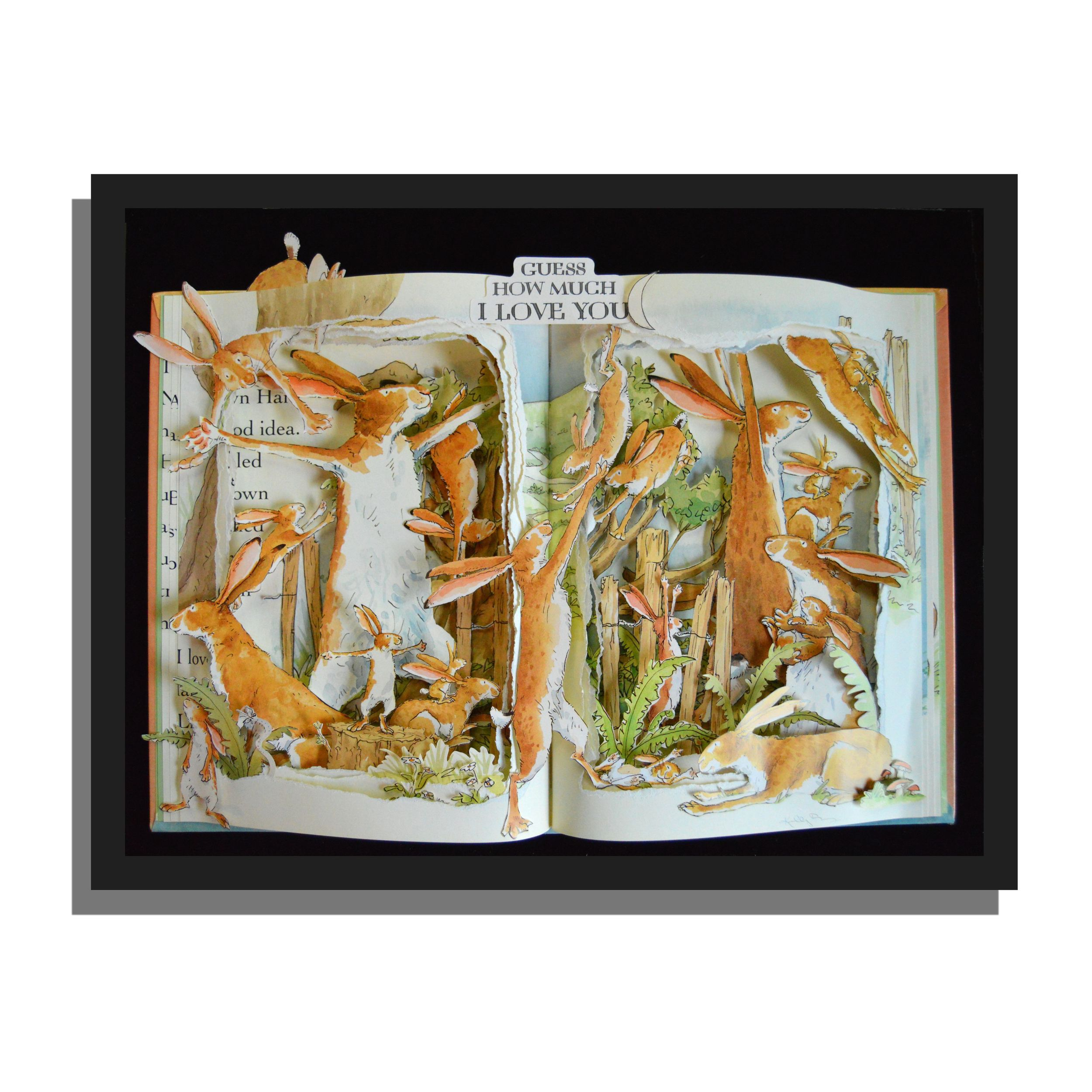 Guess How Much I Love You - Book Sculpture 12x16x3