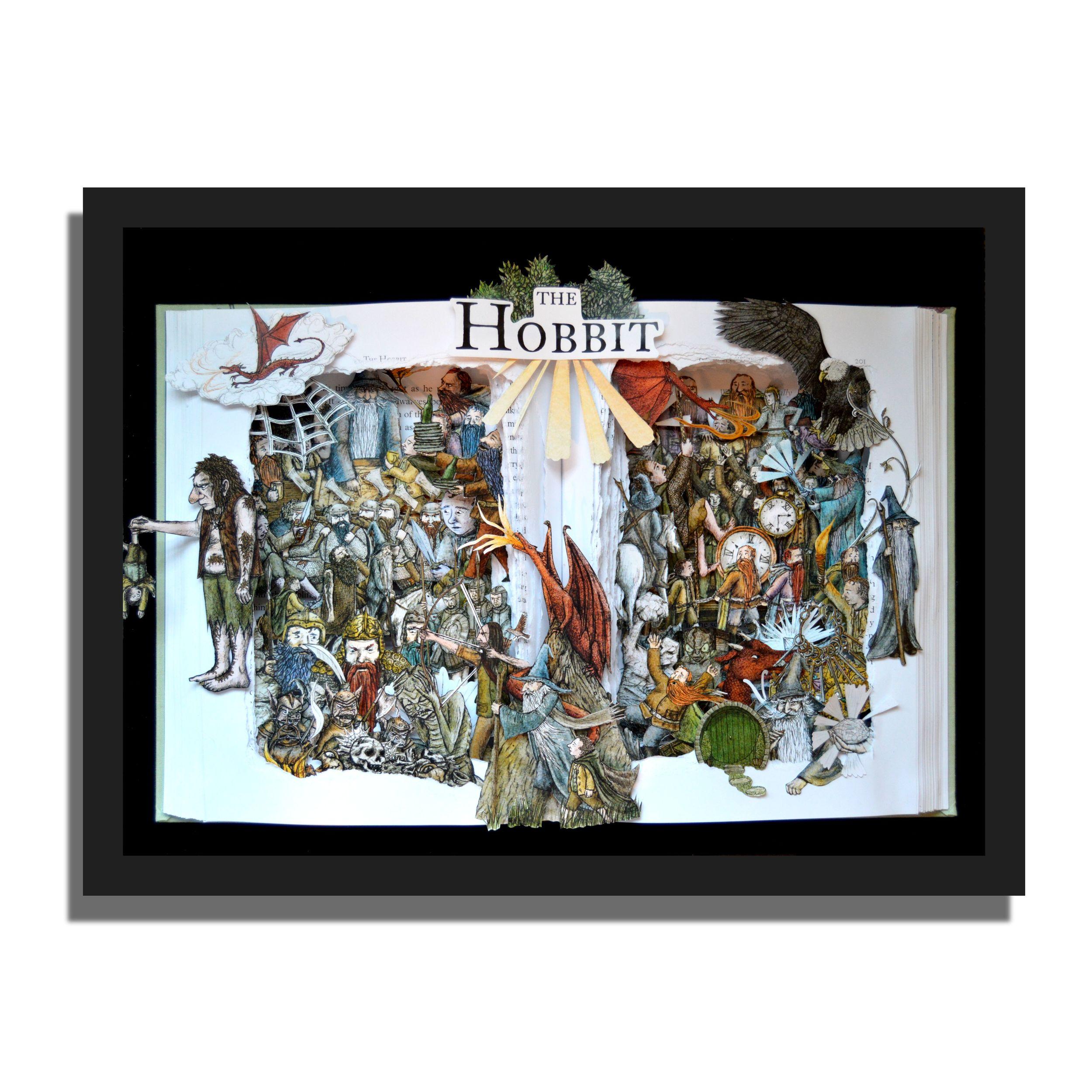 Hobbit - 12x16x3 Book Sculpture