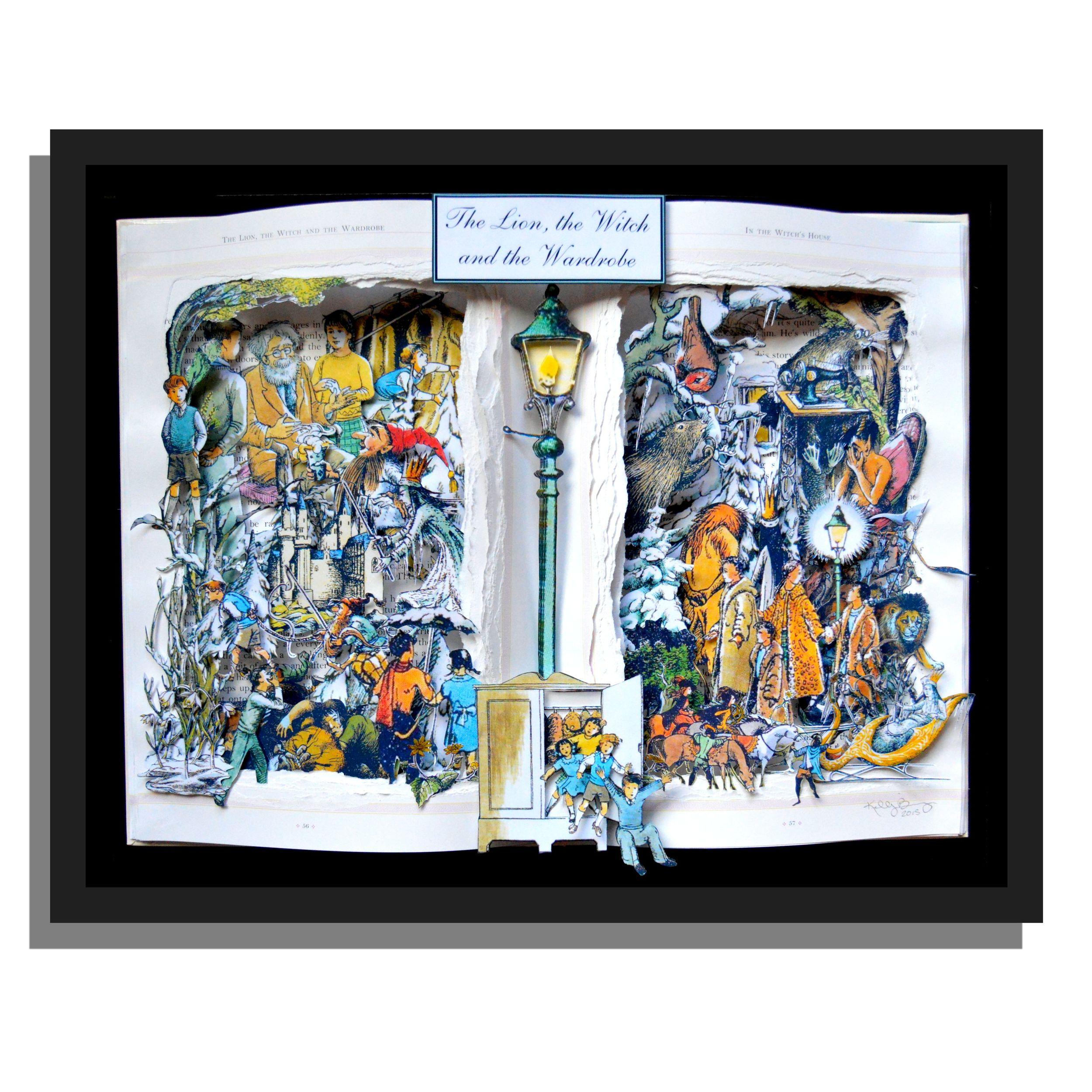 Narnia 12x16x3 Book Sculpture