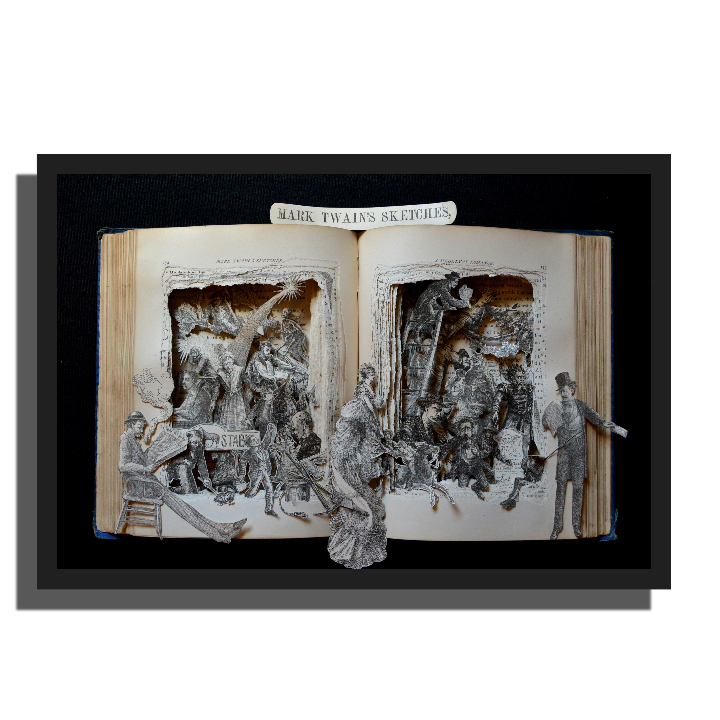 12x16x3 Mark Twain Sketches - First Edition