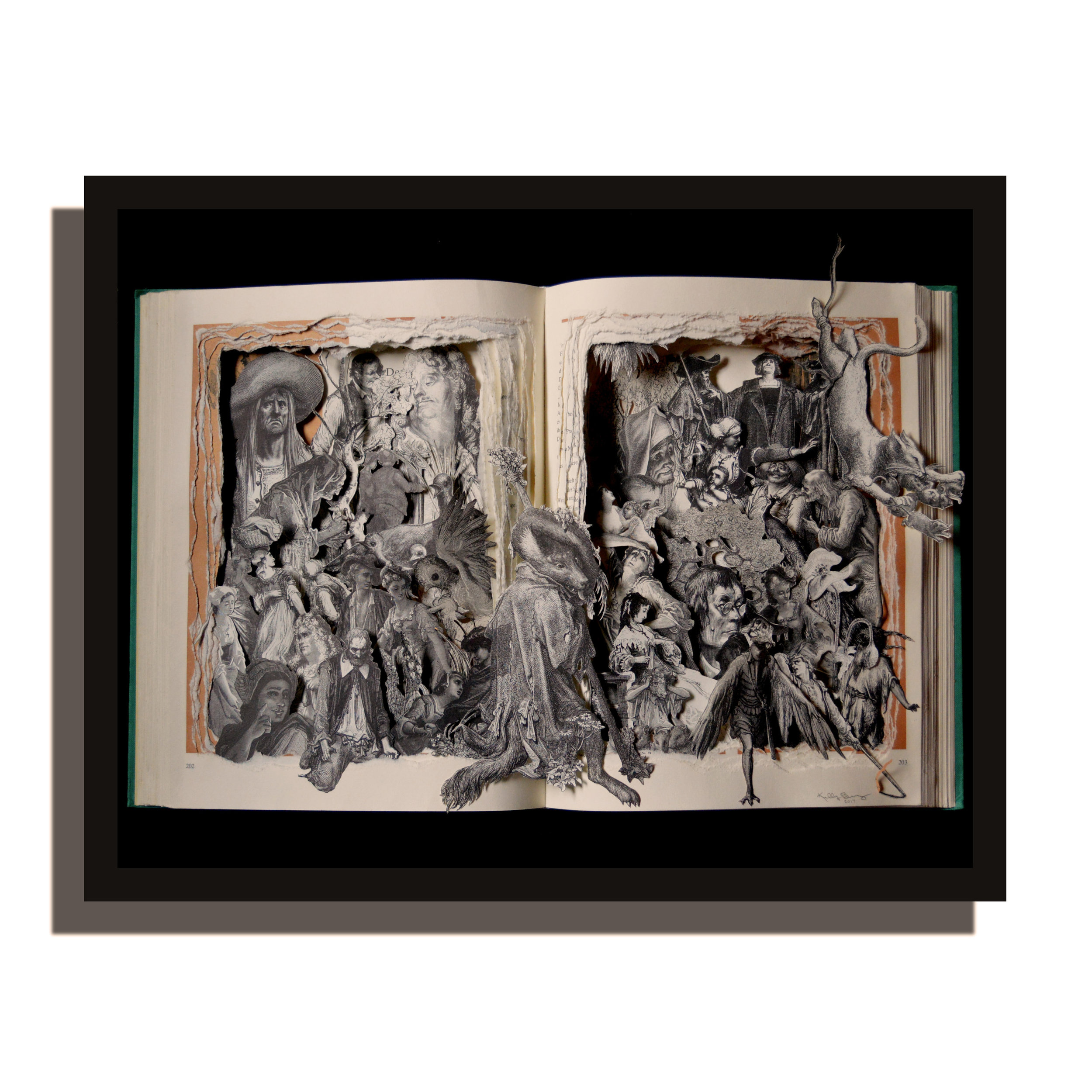 Fables Book Sculpture - Illustrations by Gustave Dore'