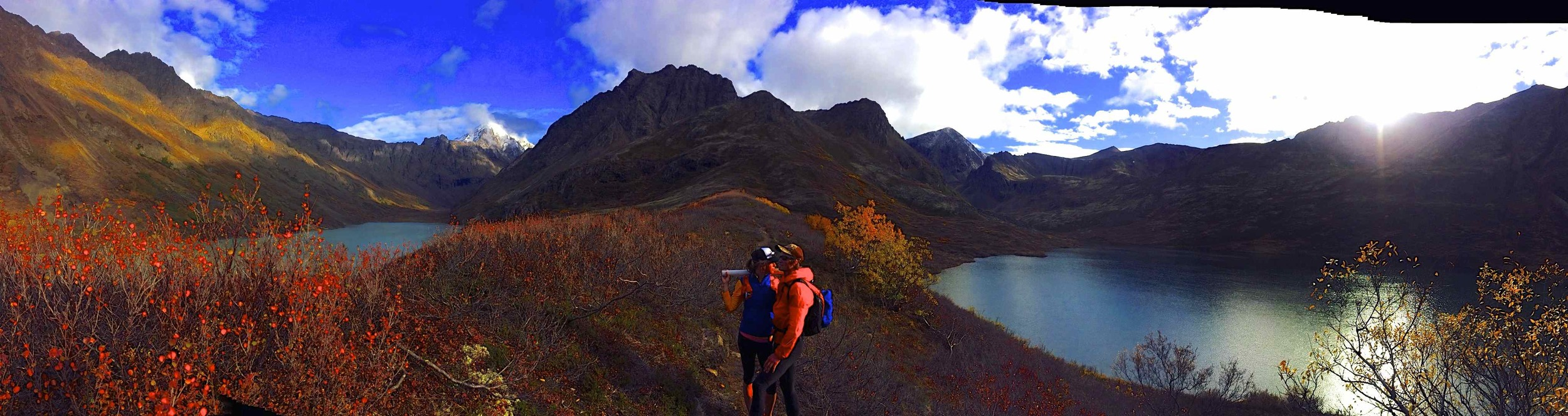 Ran to Symphony Lake with Jessica and Tyler to catch some grayling and pick blue berries