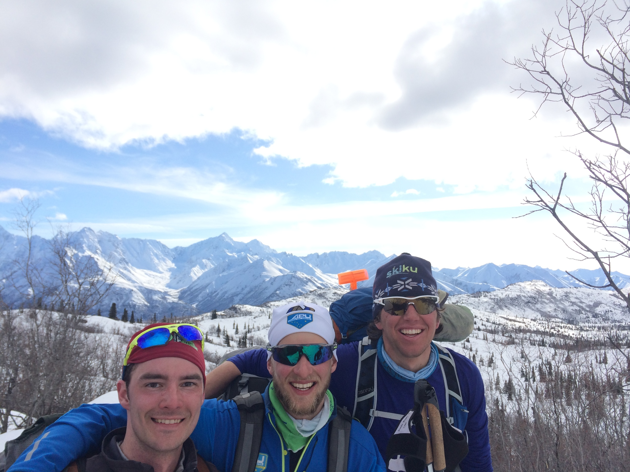 Thanks boys for a fun ski