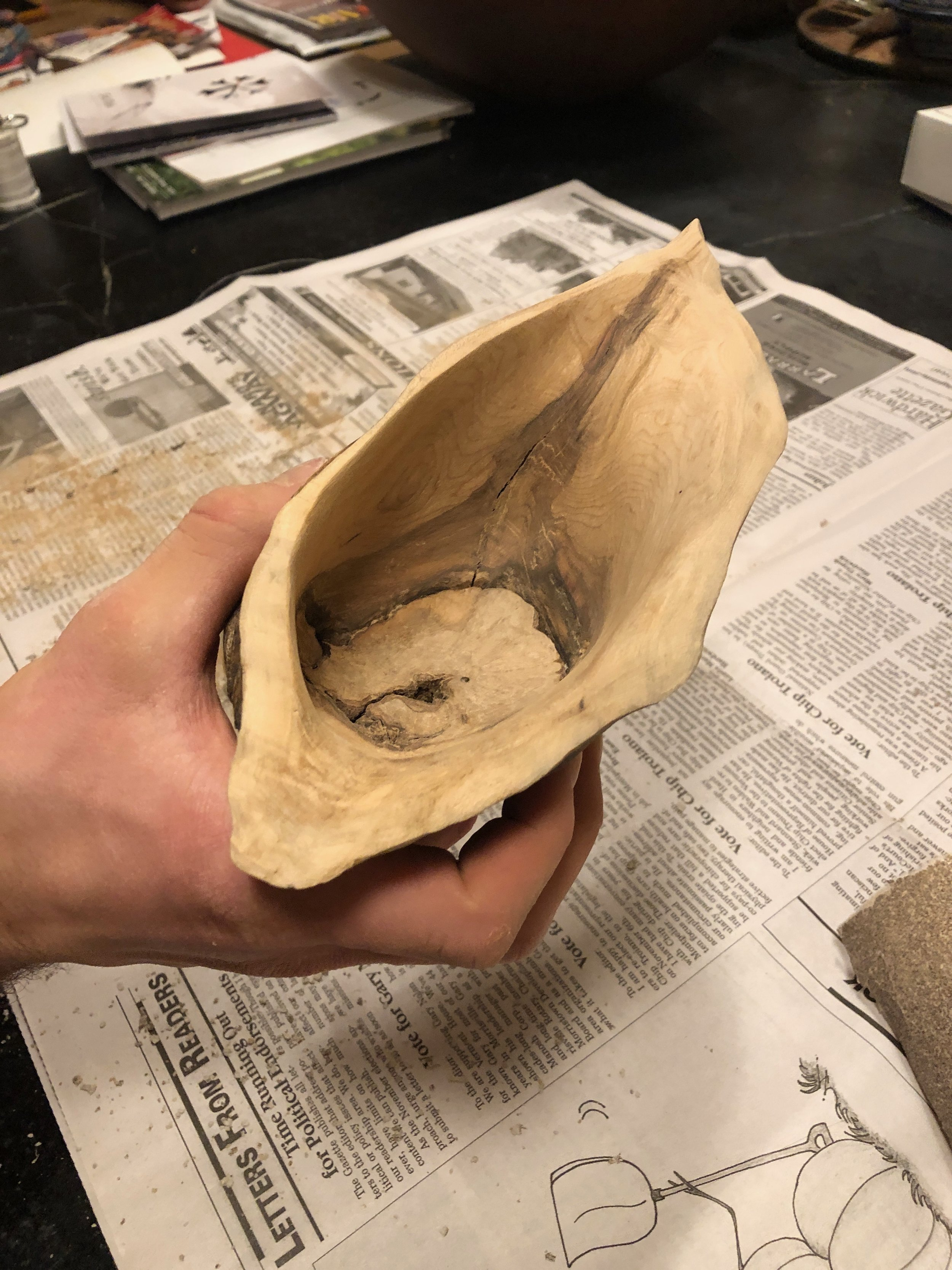 My burl mostly hollowed out