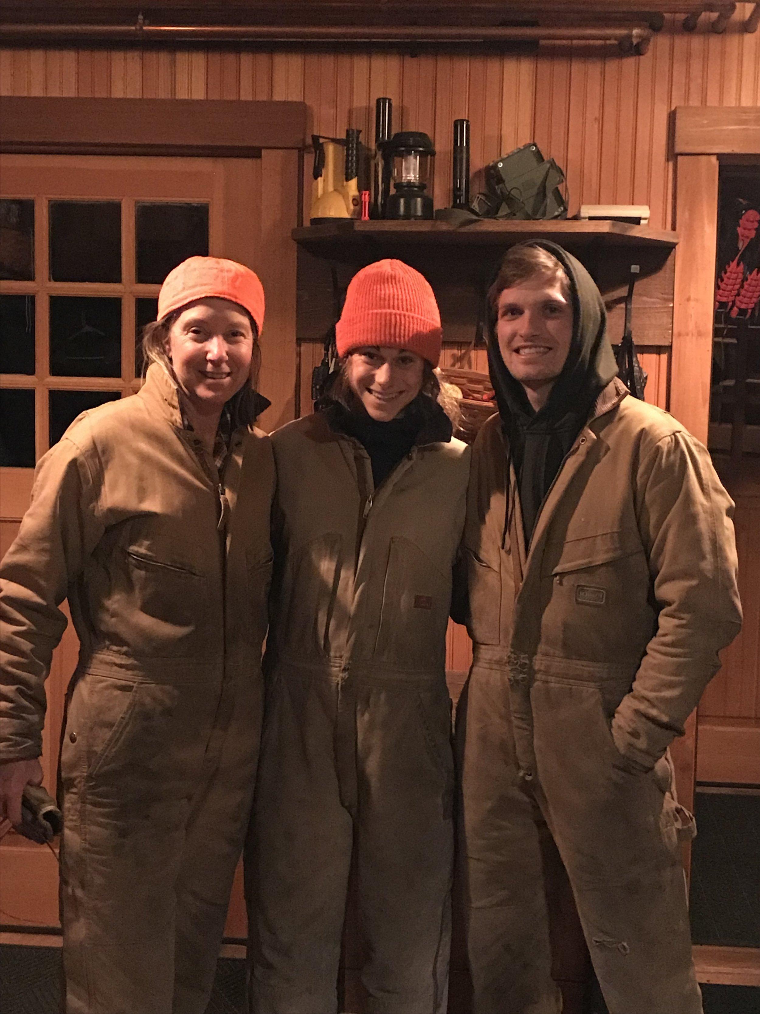 The wood cutting crew