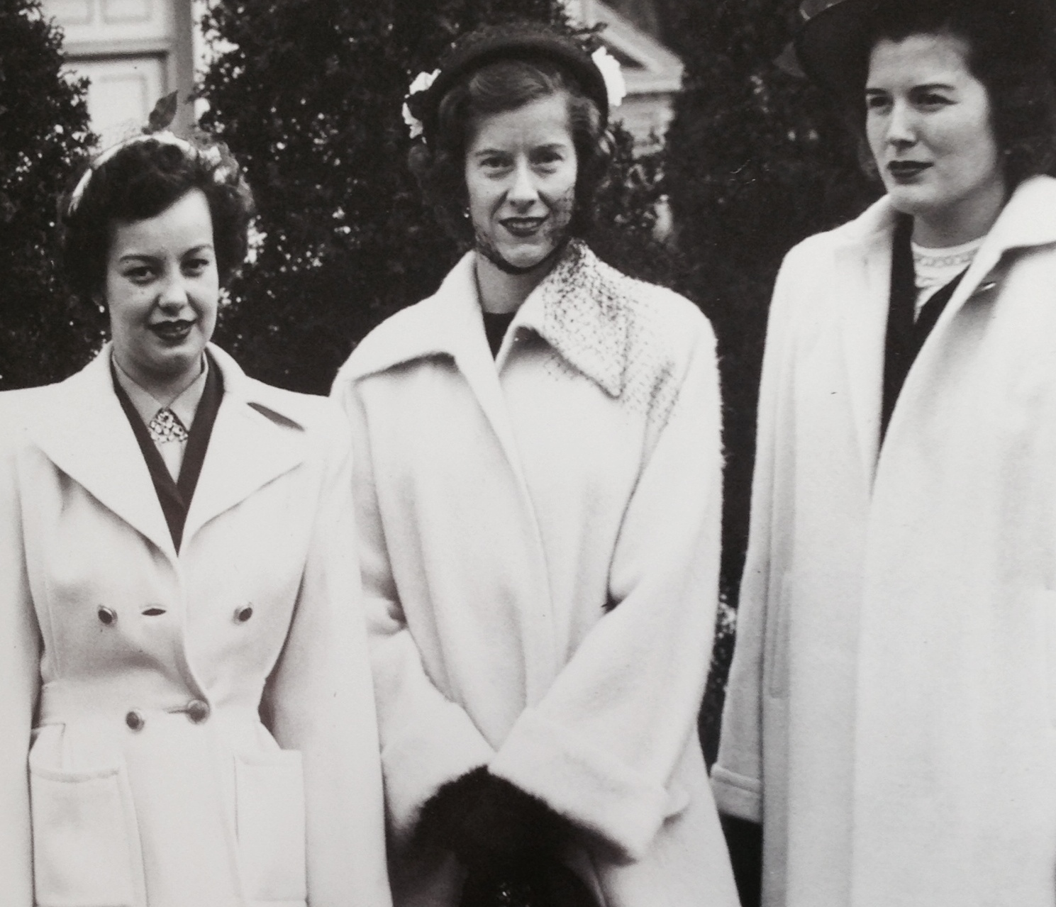 My father's photo of Mom in the middle surrounded by her girlfriends in Ohio.