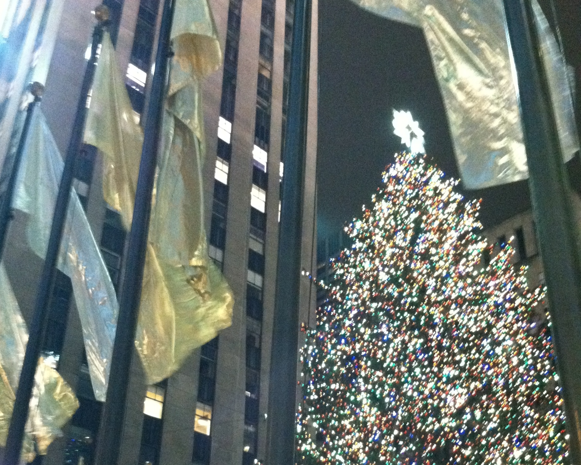 New York's 30 Rock Plaza - fleeting memory from 2010