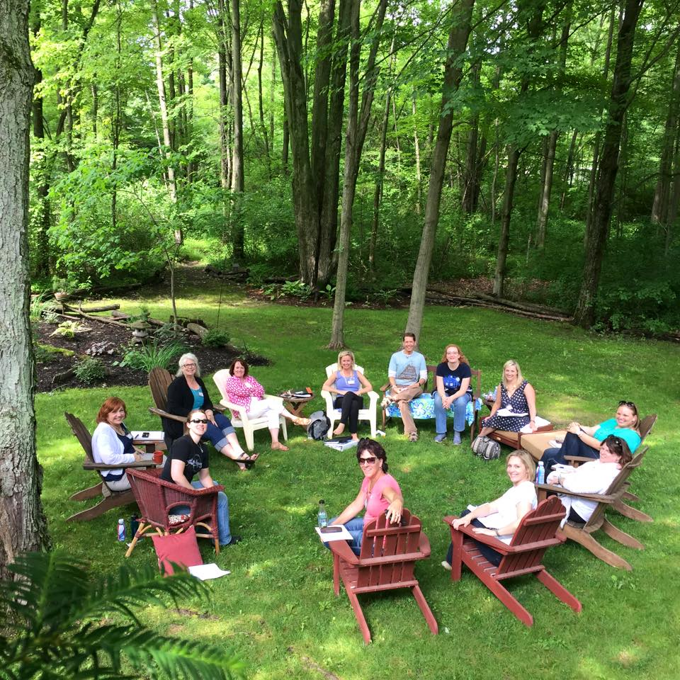 Writing retreat in the woods of Wade's cabin estate. Photo courtesy of Gary Edwards.