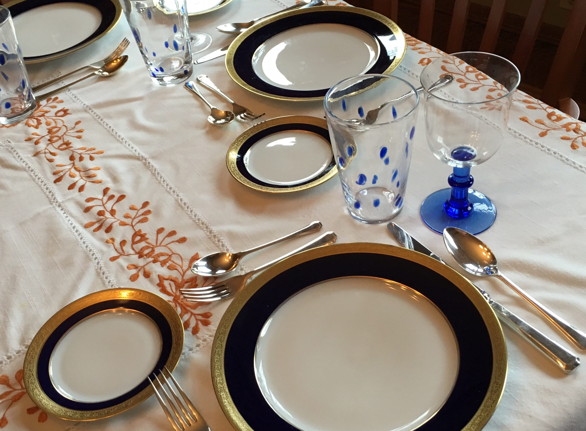 Koppel china out from the dusty closet and ready for dining once more.