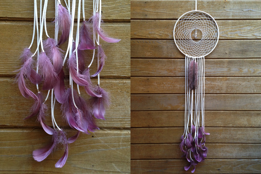 Banded Agate Ostrich Feather Dreamcatcher