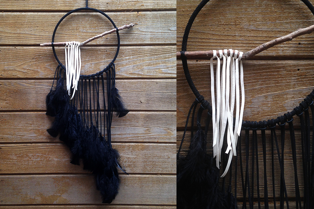 Black and Ivory Dreamcatcher
