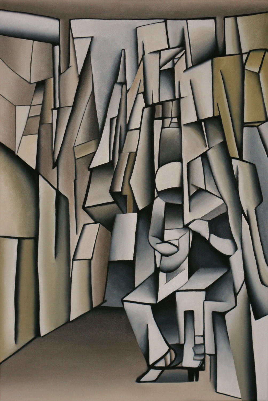 Mandolin Player - Oil on Canvas (51x76cm)