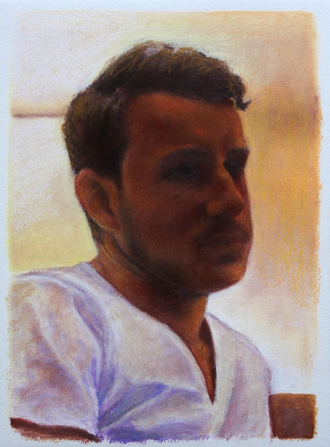 Brother - Oil Pastel On Paper (23x31cm)