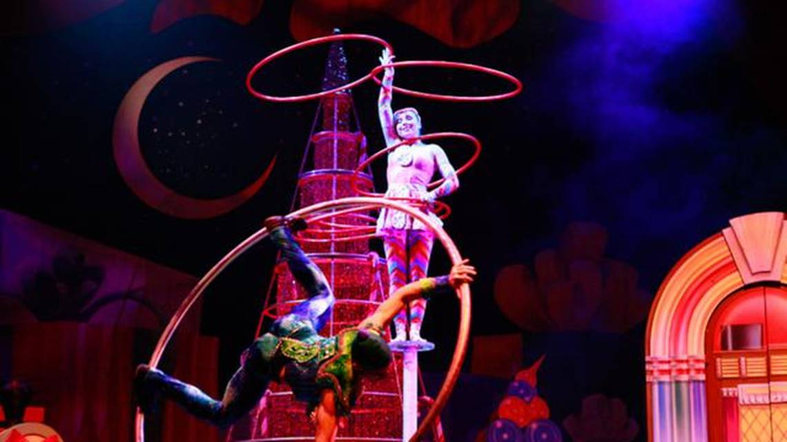Cirque Dreams Holidaze features 30 performers from 12 countries wearing 300 glittering costumes and cavorting amid giant candy canes, 30-foot toy soldiers and mountains of brightly-wrapped gifts. Courtesy photo