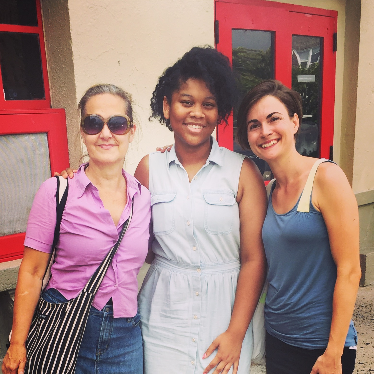 With the incredible Cocoon team -- Jewels Marshall and Mirana Zuger -- after a great meeting with Dalaeja Foreman at BCA.