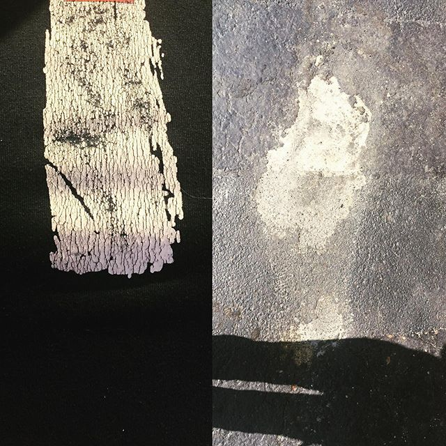 Left: Appalachian Trail logo / Right: pavement pareidolia near the Appalacjian Trail. #thepareidoliaproject #pareidolia #abstract #beauty #nature #appalachiantrail