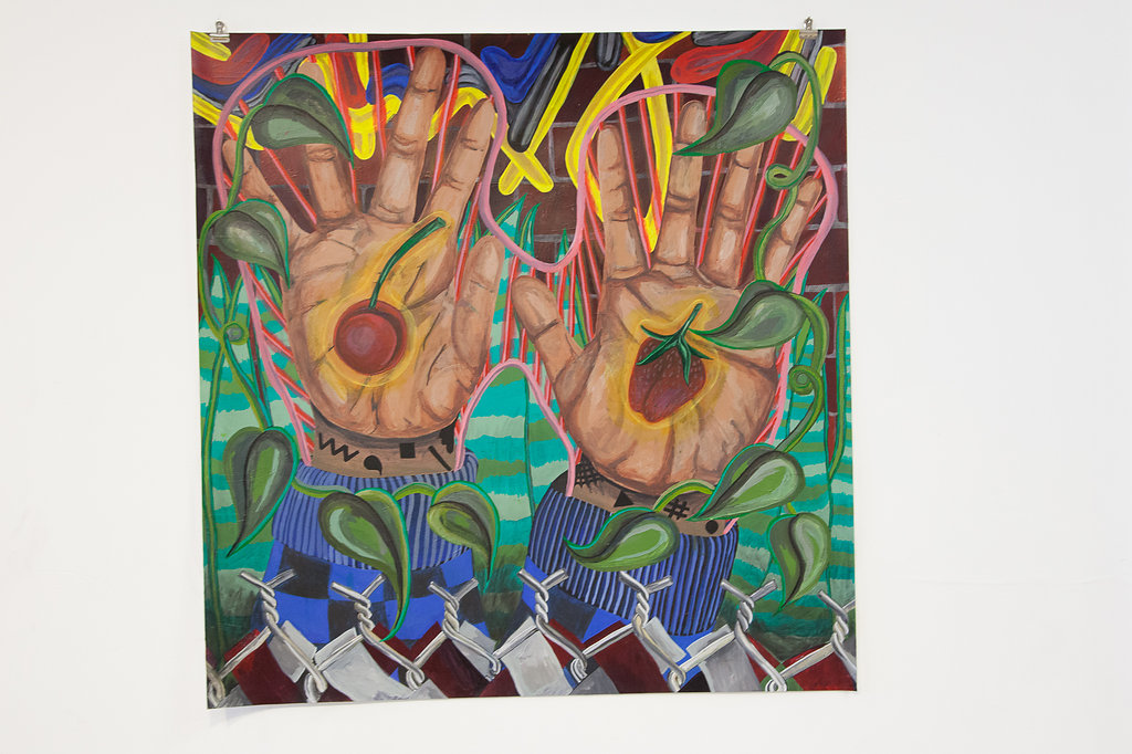 HANDS UP_2016_ACRYLIC ON PAPER_NILAY LAWSON.jpg