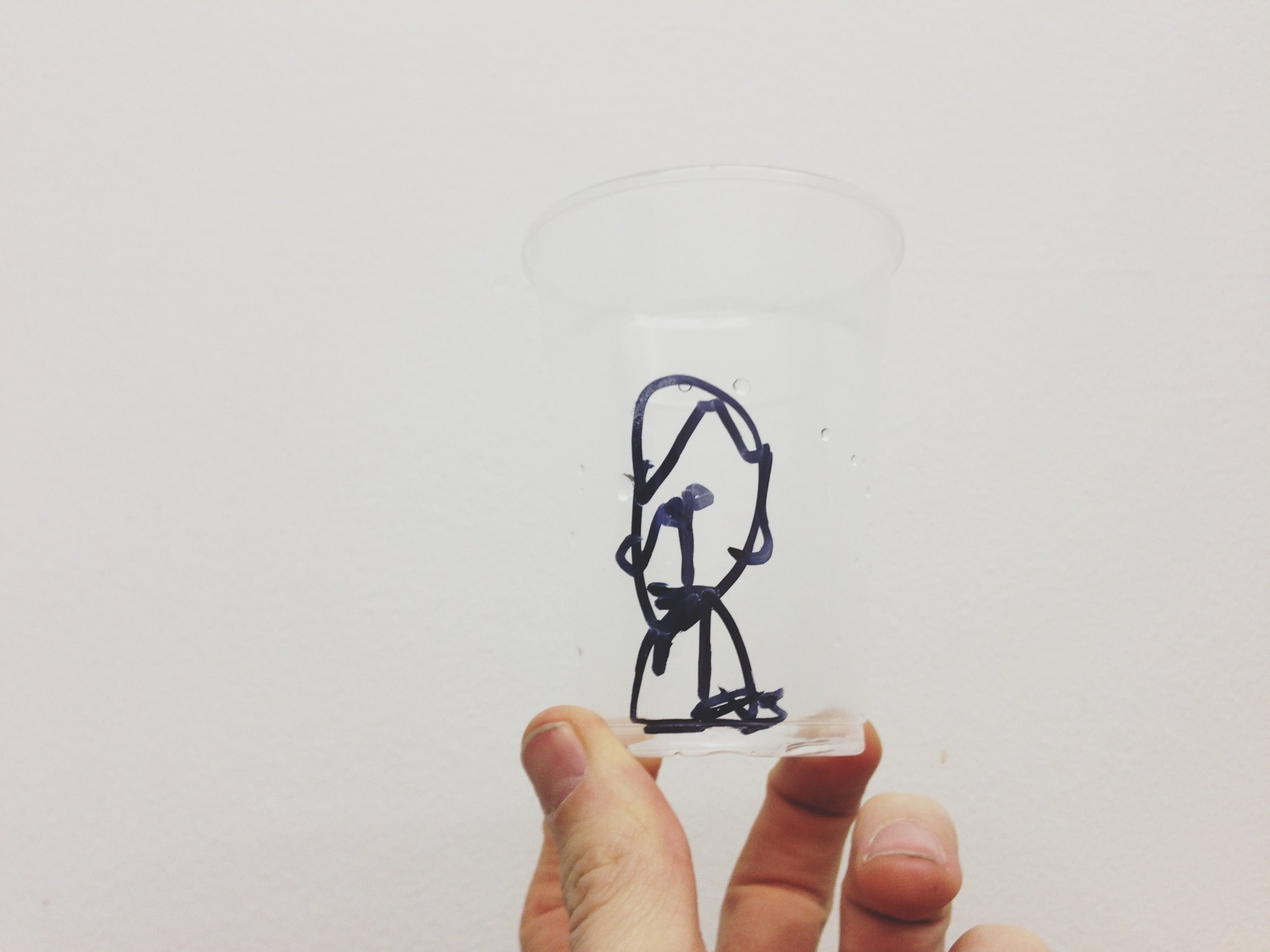 Ted James Butler   IMG_4407.jpeg / self portrait,  2011  permanent marker on disposable cup, digital photograph  3264 × 2448