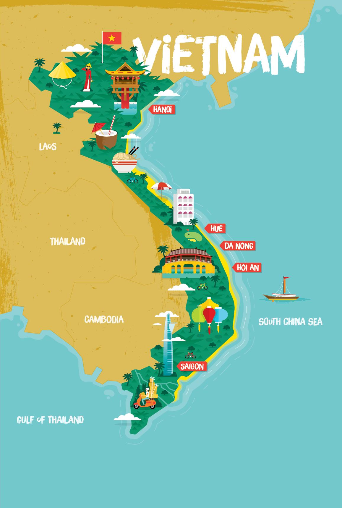 VIETNAM MAP — Stuart Holmes