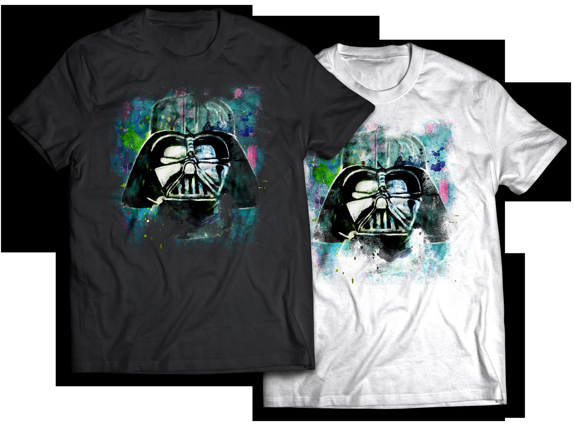Darth Vader abstract painting t-shirt design Jlane Design Teepublic