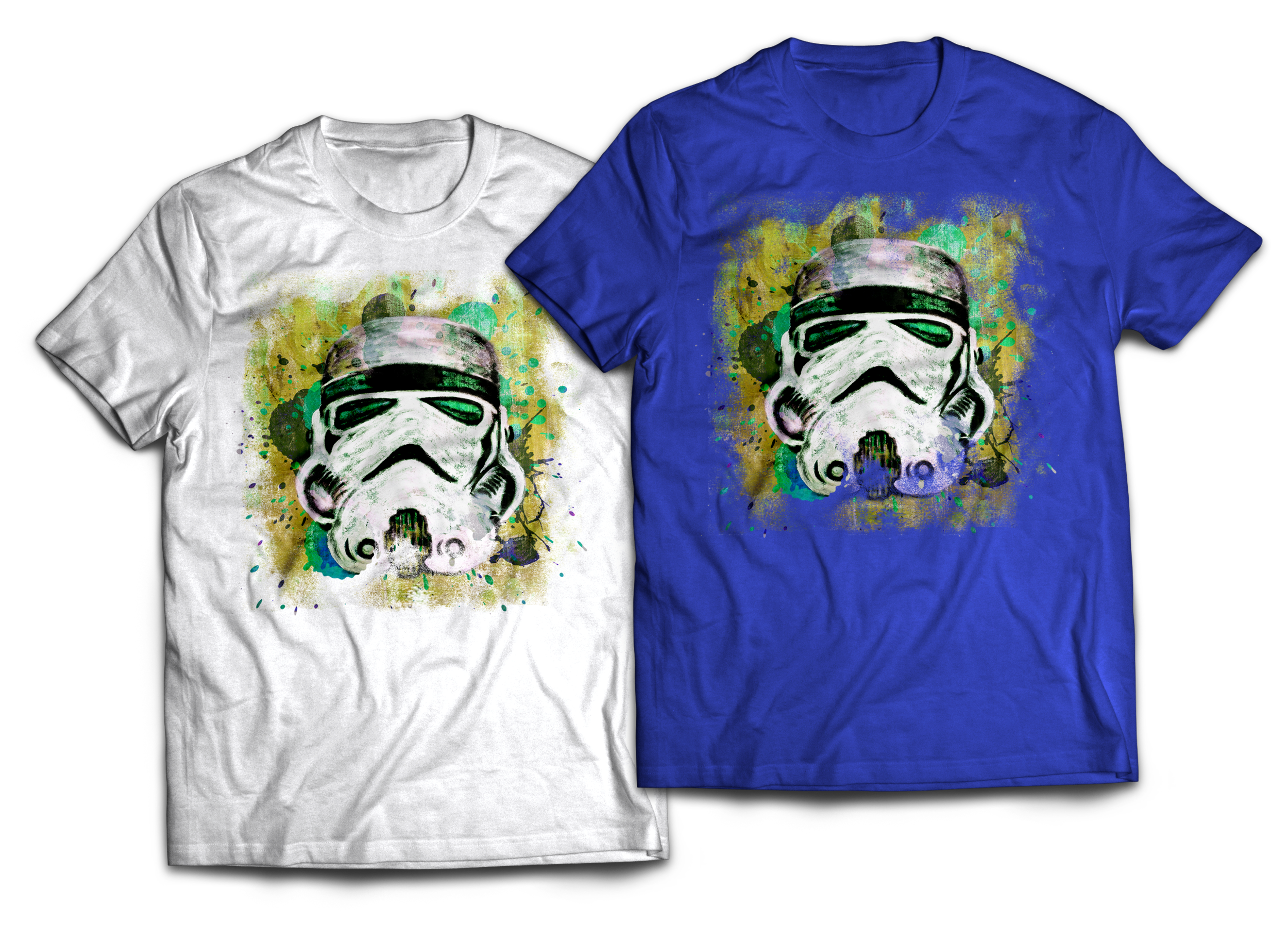 Stormtrooper Abstract painting T-shirt Design Jlane Design Teepublic