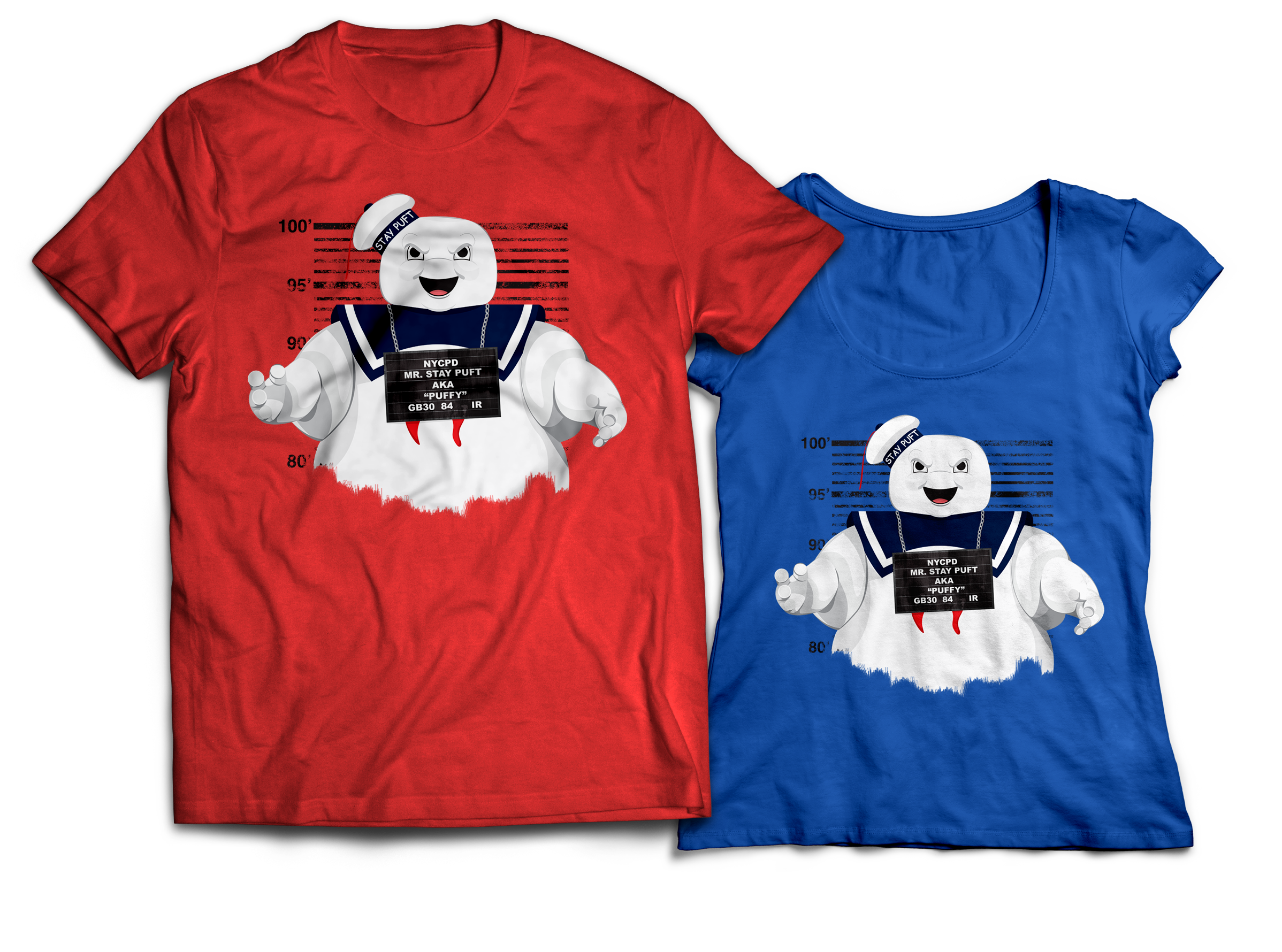 Ghostbusters Stay Puft Marshmallow Man T-shirt Design Jlane Design Teepublic