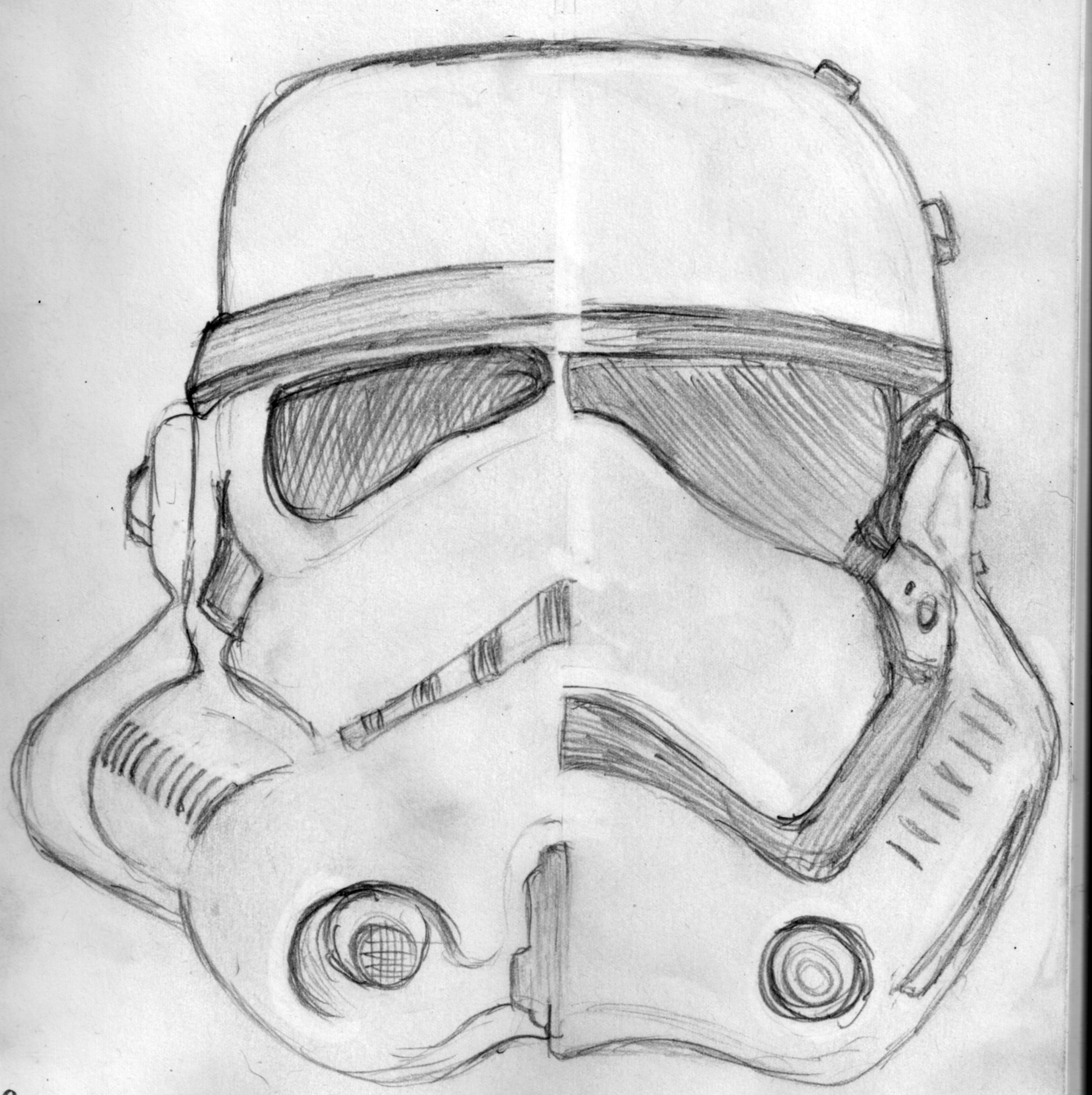 Stormtrooper New and Old Sketch Jlane Design