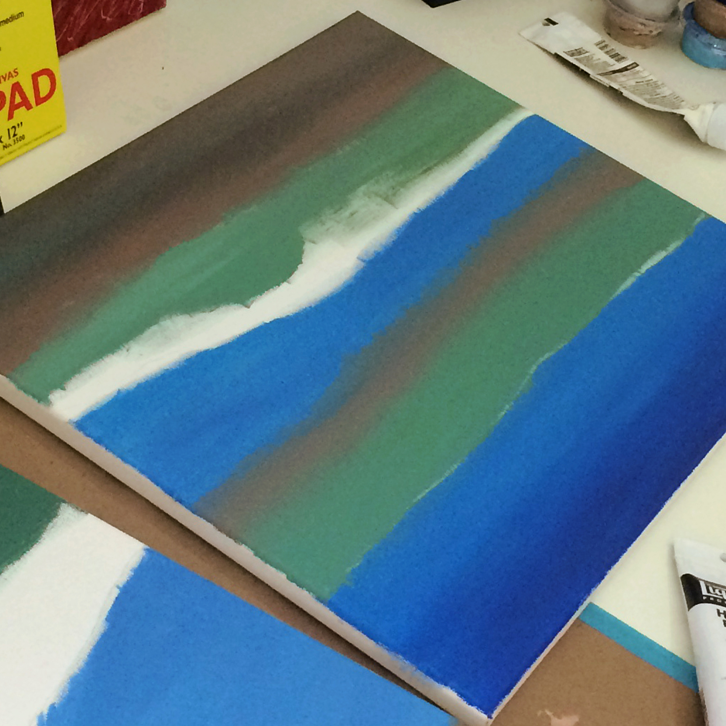 Prepped Canvas Wave