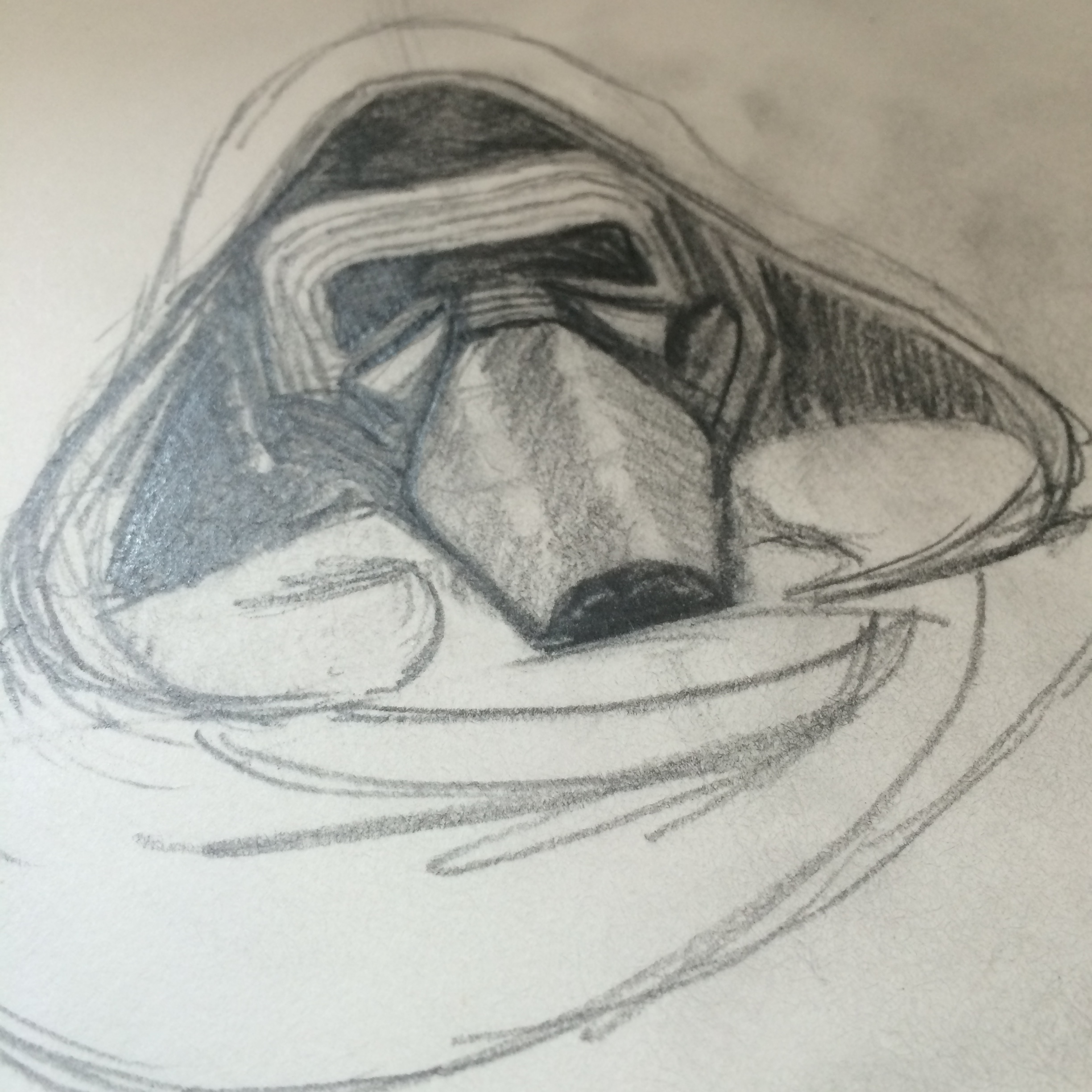 Kylo Ren Sketch Drawing by Jlane Design